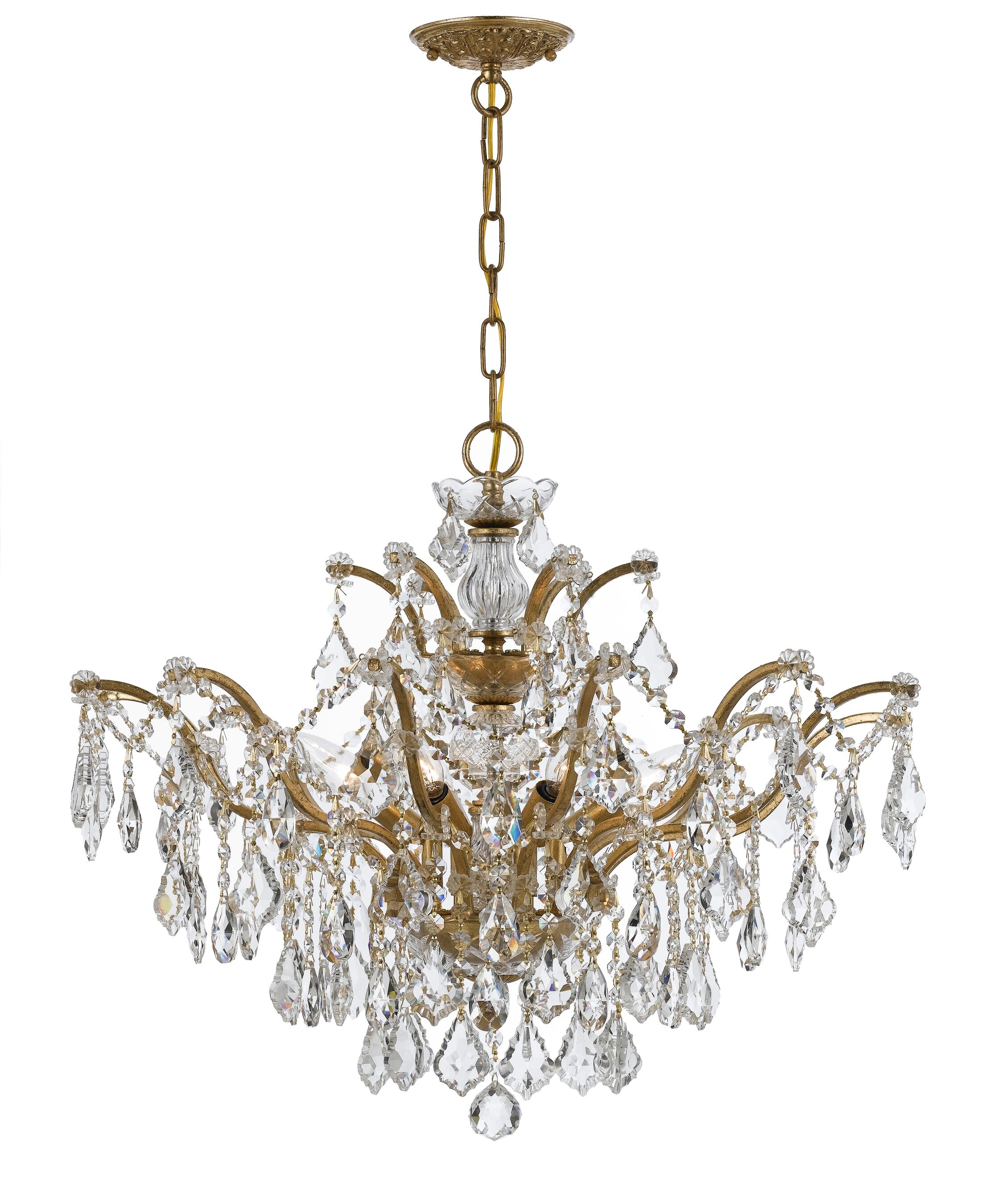 Maira 6-Light Candle Style Chandelier Finish: Antique Gold