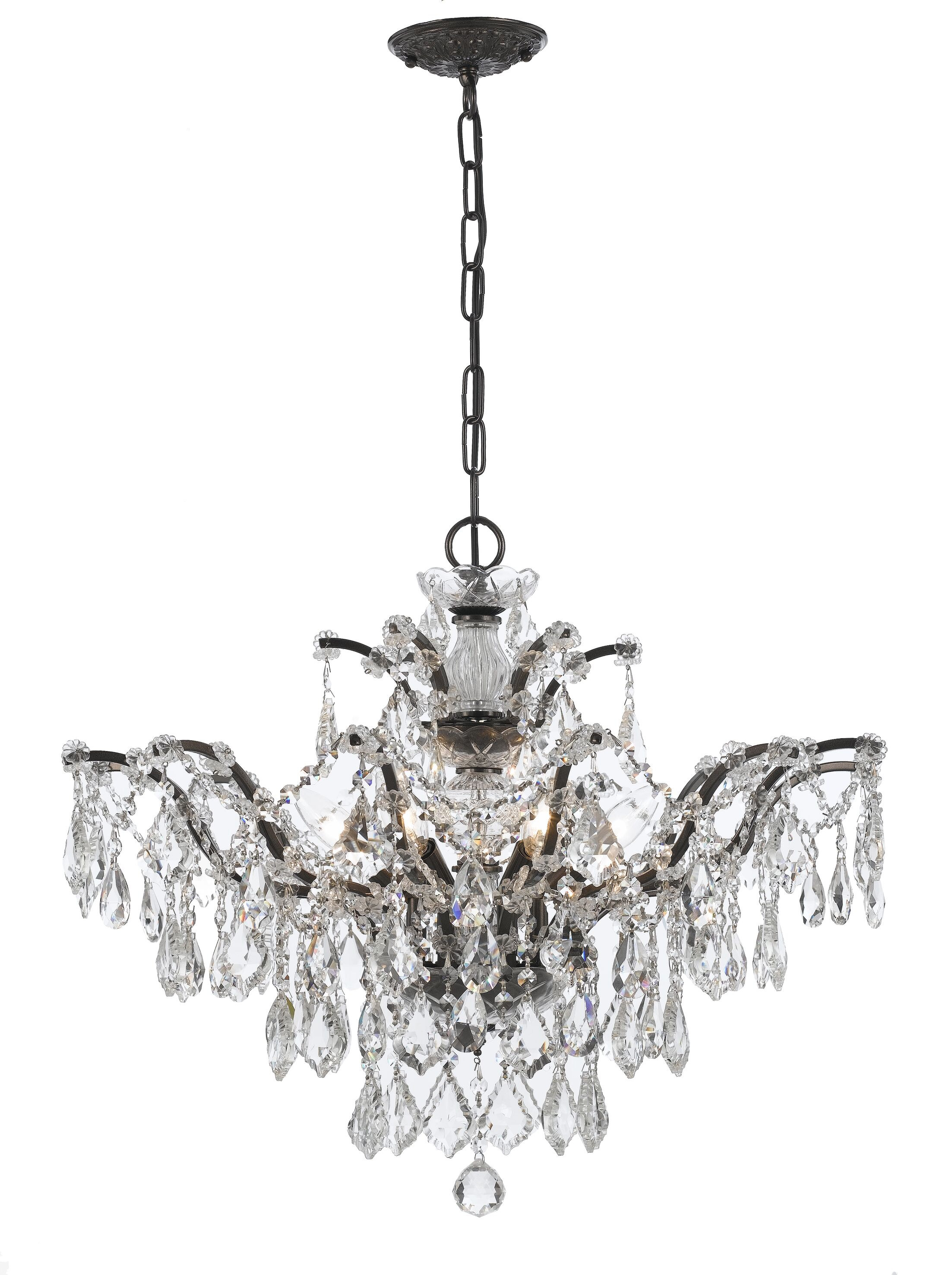 Maira 6-Light Candle Style Chandelier Finish: Vibrant Bronze, Crystal Grade: Swarovski Elements