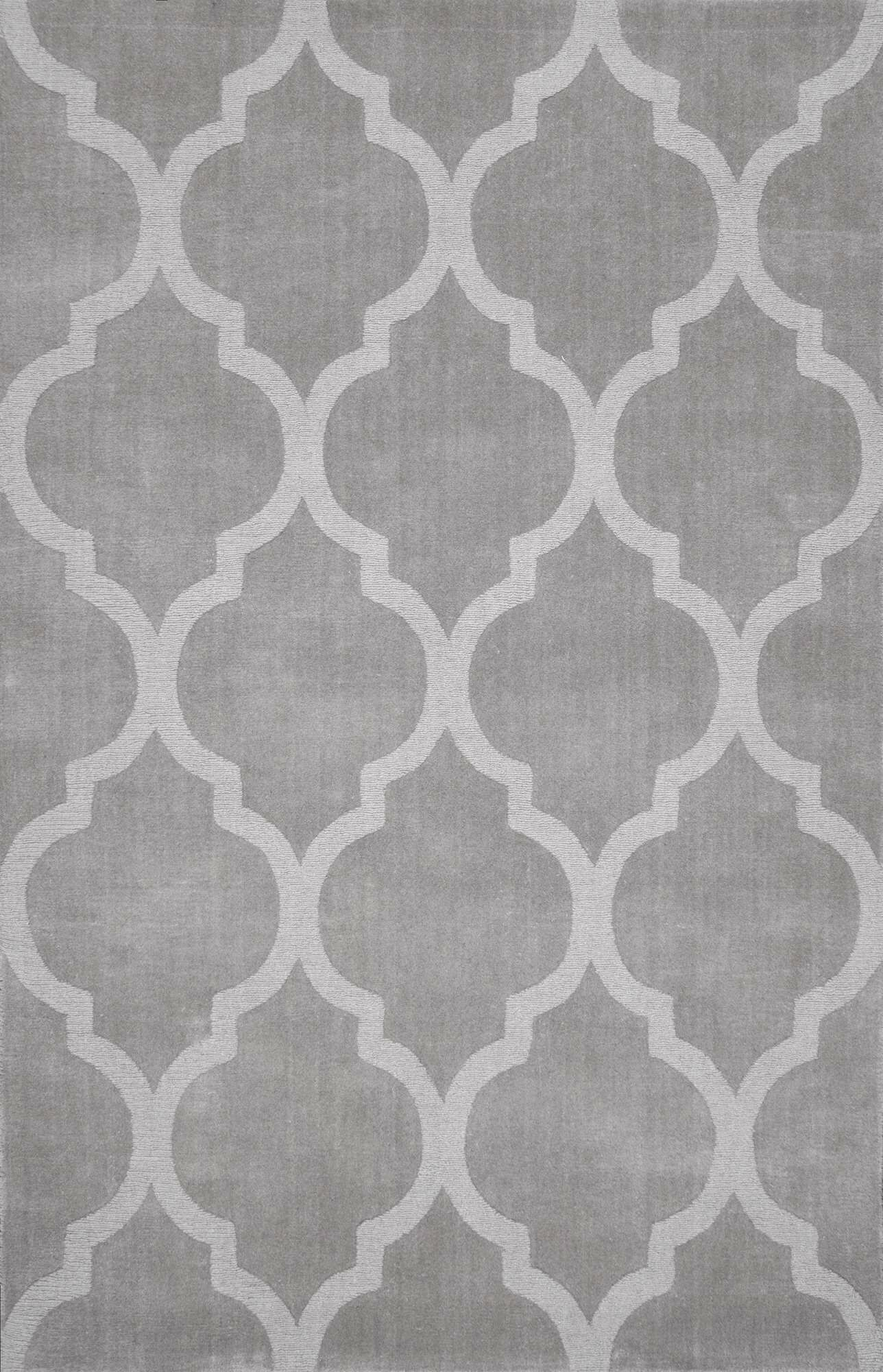 Cherelle Hand-Woven Dark Gray Area Rug Rug Size: Rectangle 7'6