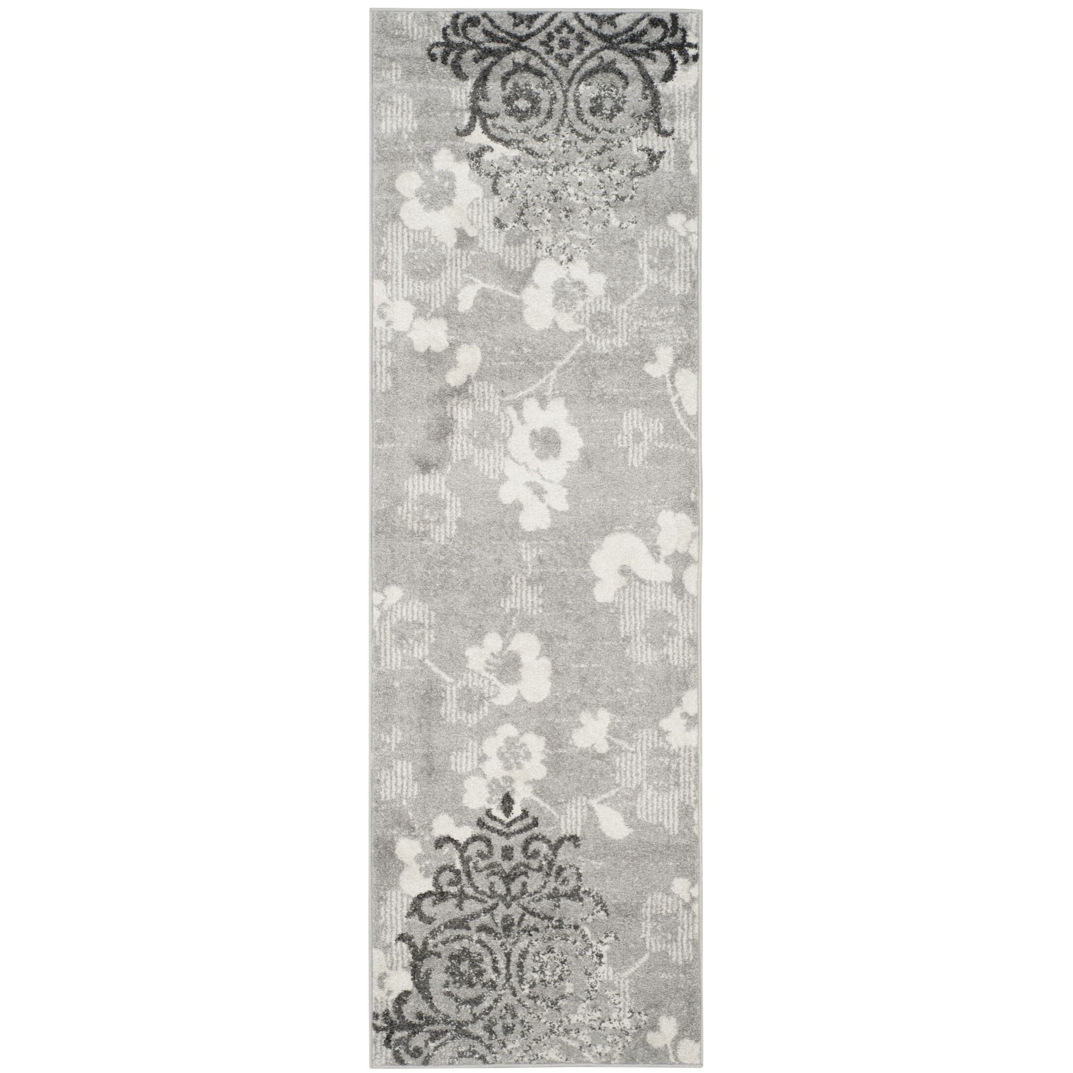 Frizzell Silver/Ivory Area Rug Rug Size: Runner 2'6