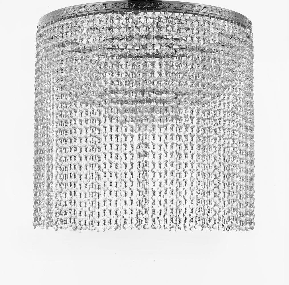 Dyann 9-Light Semi Flush Mount Finish: Silver