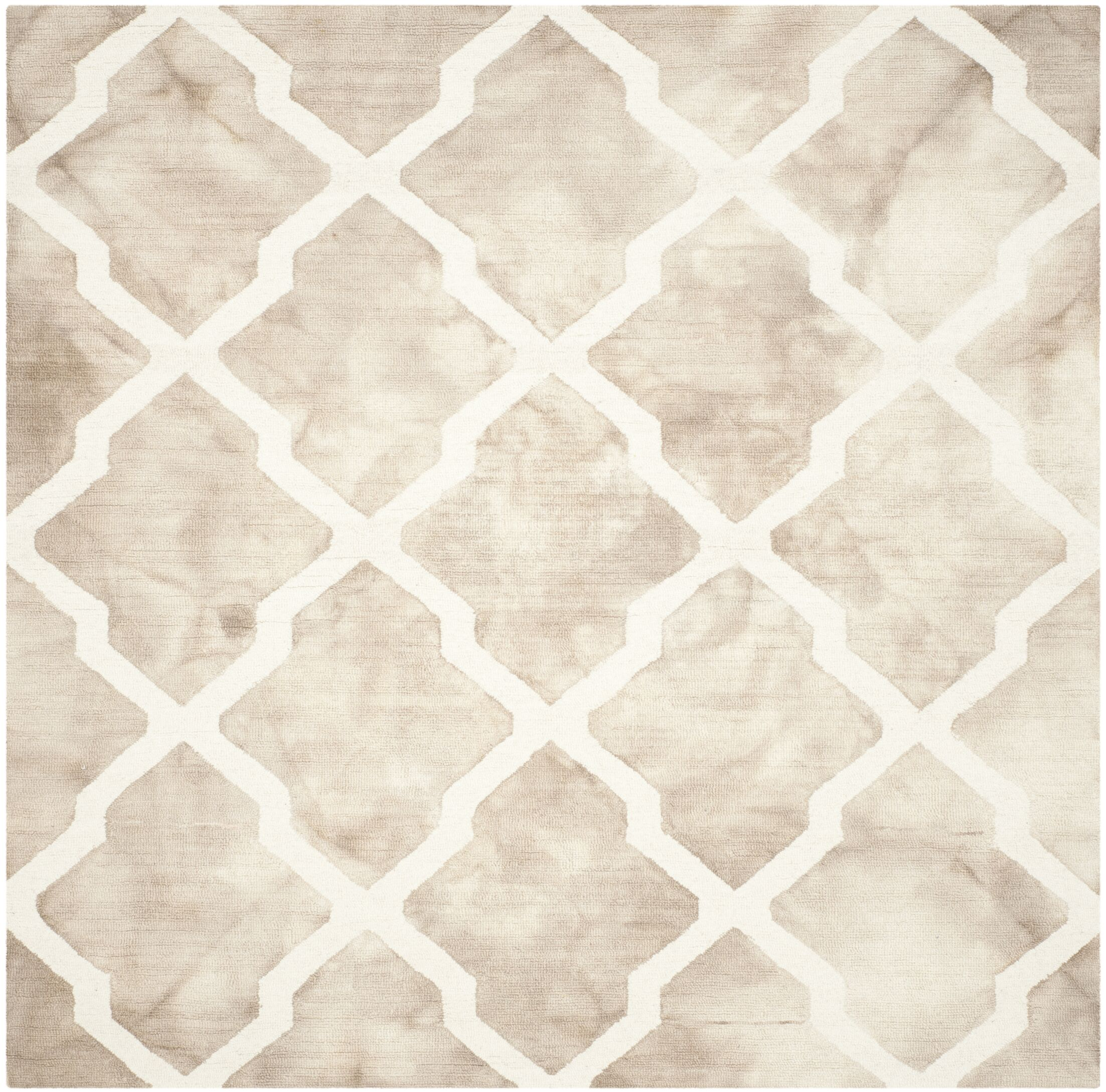 Drury Hand-Tufted Beige/Ivory Area Rug Rug Size: Square 7'