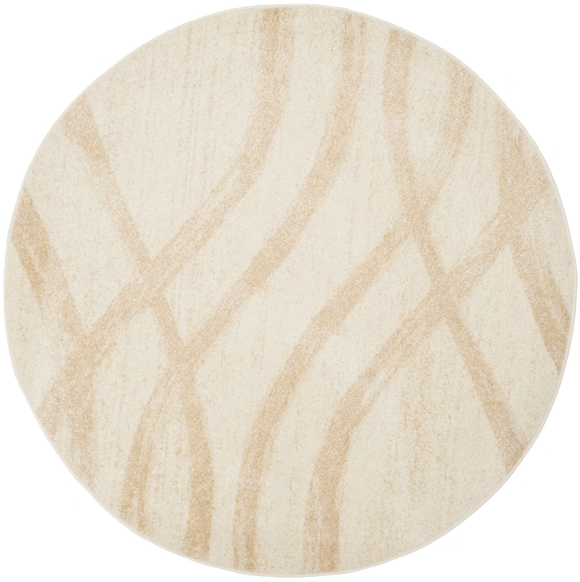 Marlee Cream/Champagne Area Rug Rug Size: Round 6'