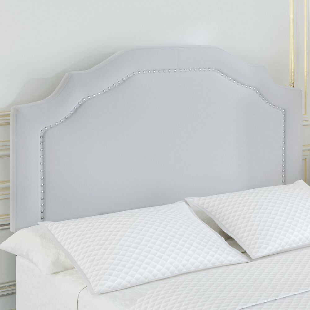 Aulay Full/Queen Upholstered Panel Headboard Upholstery: Light Gray