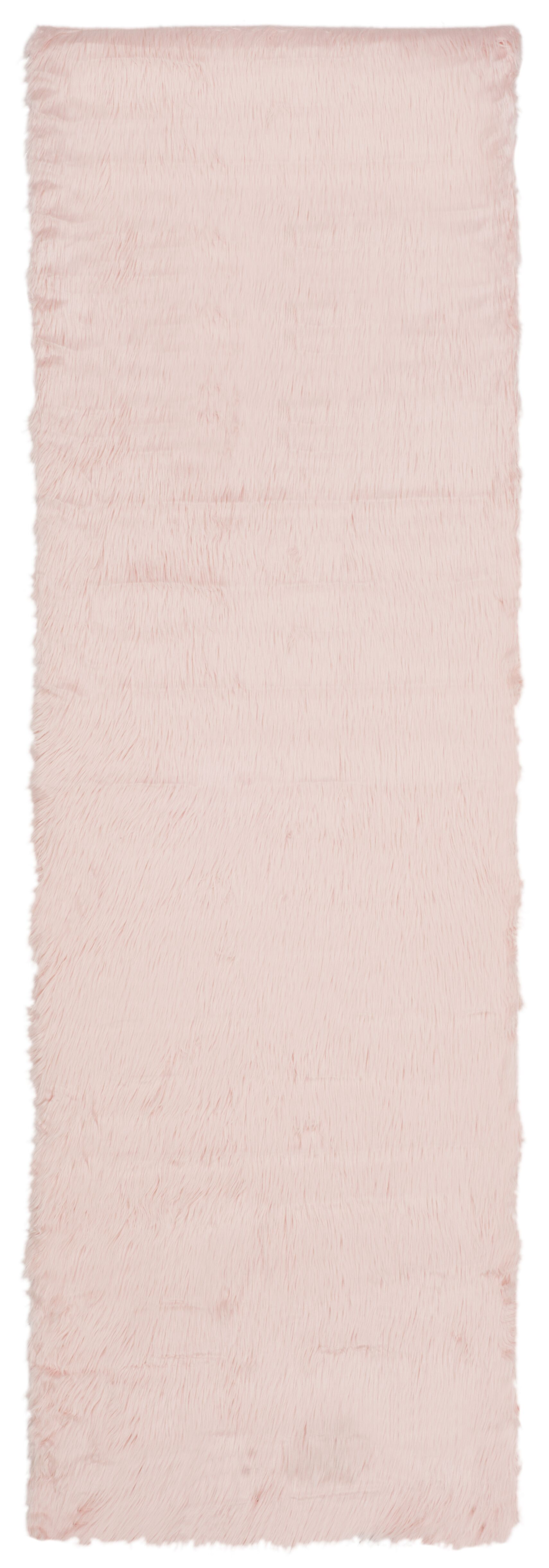 Anthony  Fur Pink Area Rug Rug Size: Runner 2'6