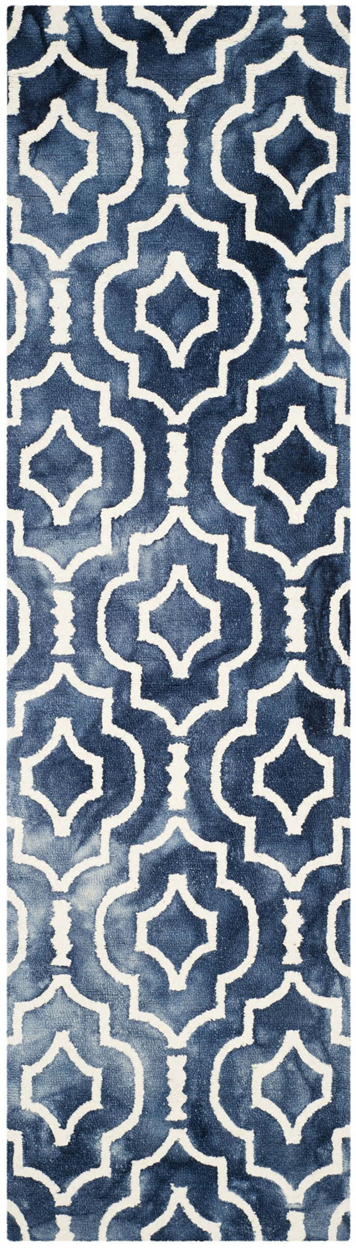 Berman Hand-Tufted Navy/Ivory Area Rug Rug Size: Runner 2'3