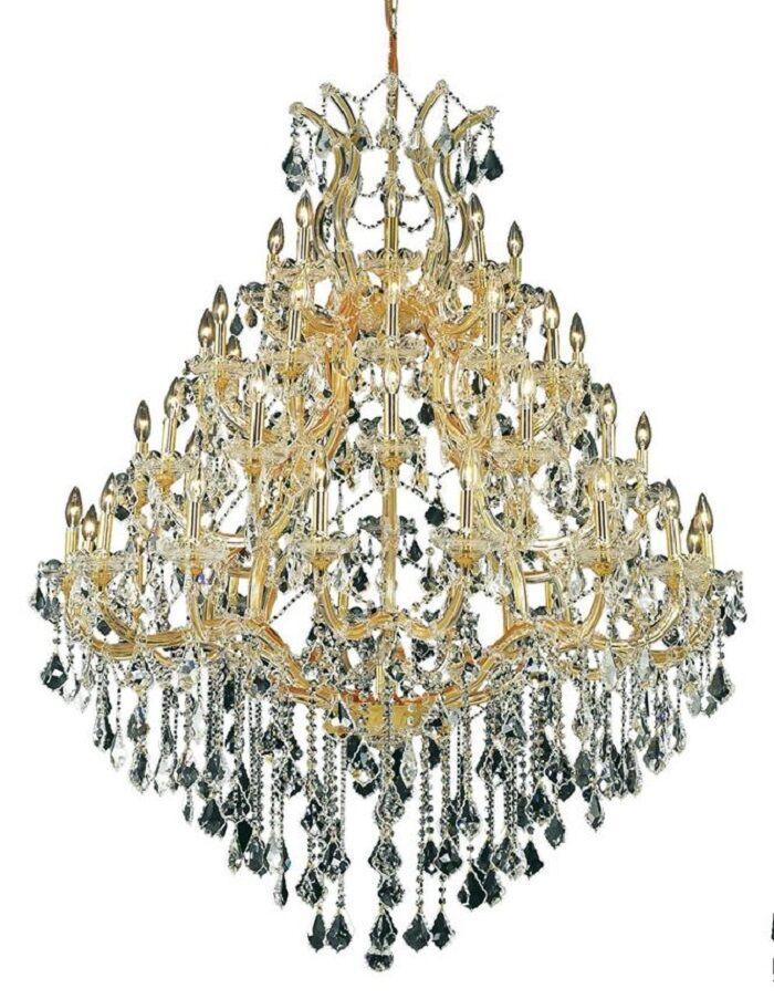 Hiott 49-Light Up Lighting Crystal Chandelier Finish / Crystal Finish / Crystal Trim: Chrome / Golden Teak (Smoky) / Strass Swarovski