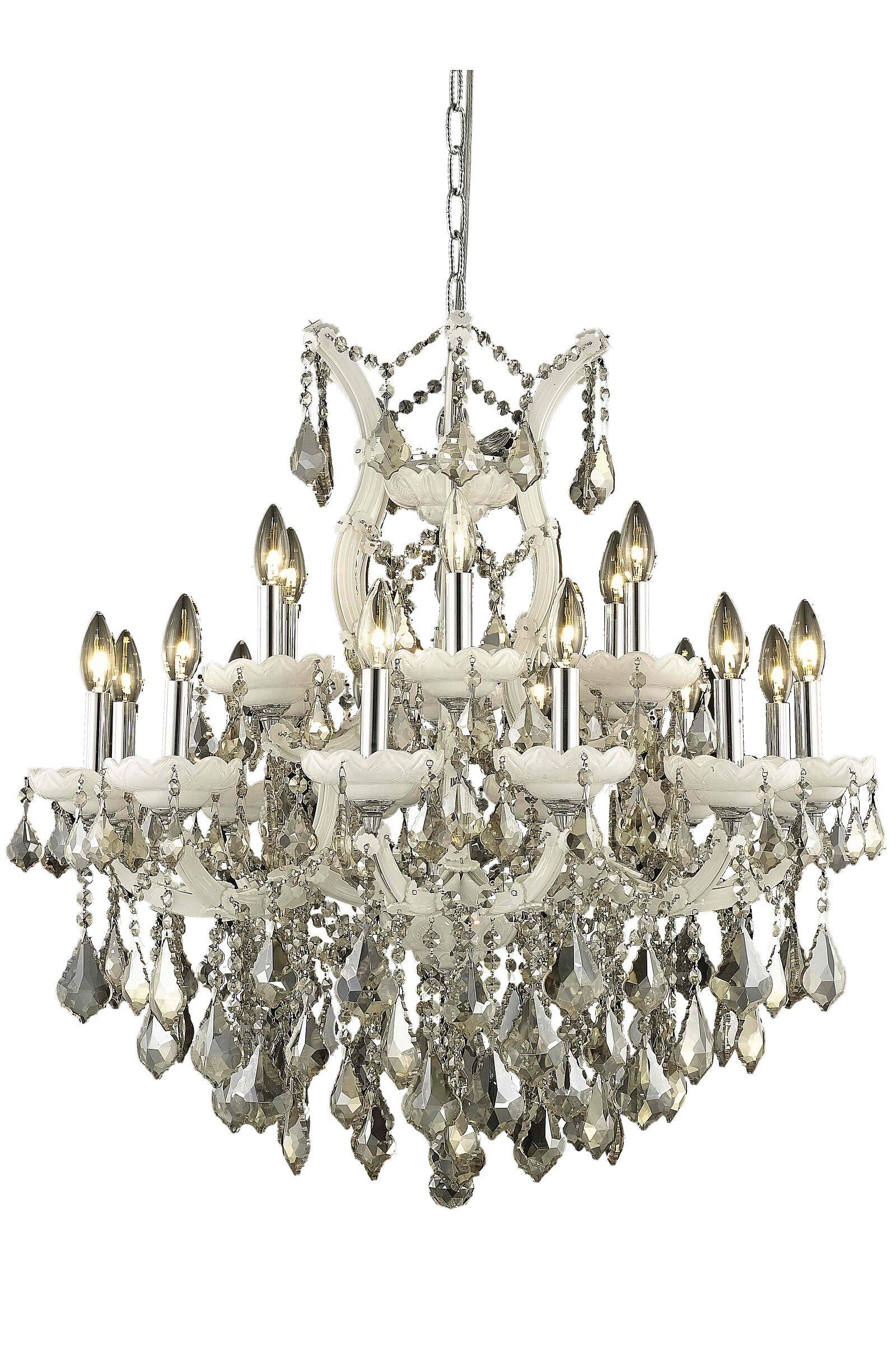 Regina 19-Light Chandelier Finish / Crystal Finish / Crystal Trim: White / Golden Teak (Smoky) / Royal Cut