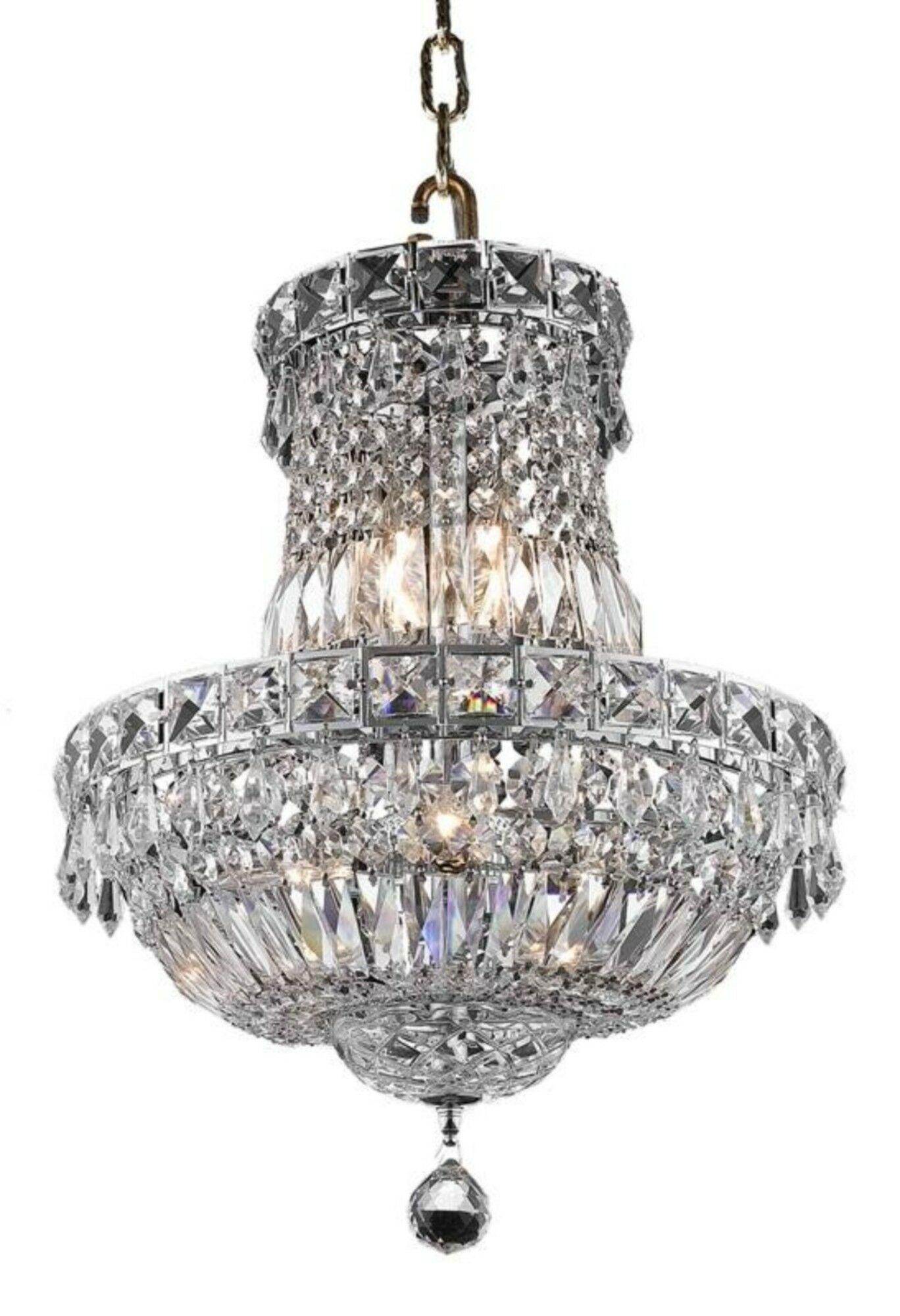 Fulham 6-Light Empire Chandelier Finish: Chrome, Crystal: Elegant Cut