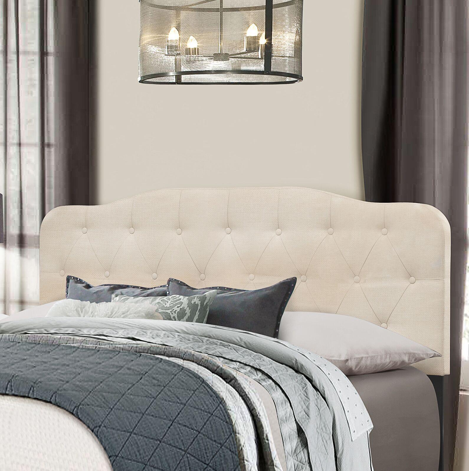 Chesterwood Upholstered Panel Headboard Size: King, Upholstery: Linen