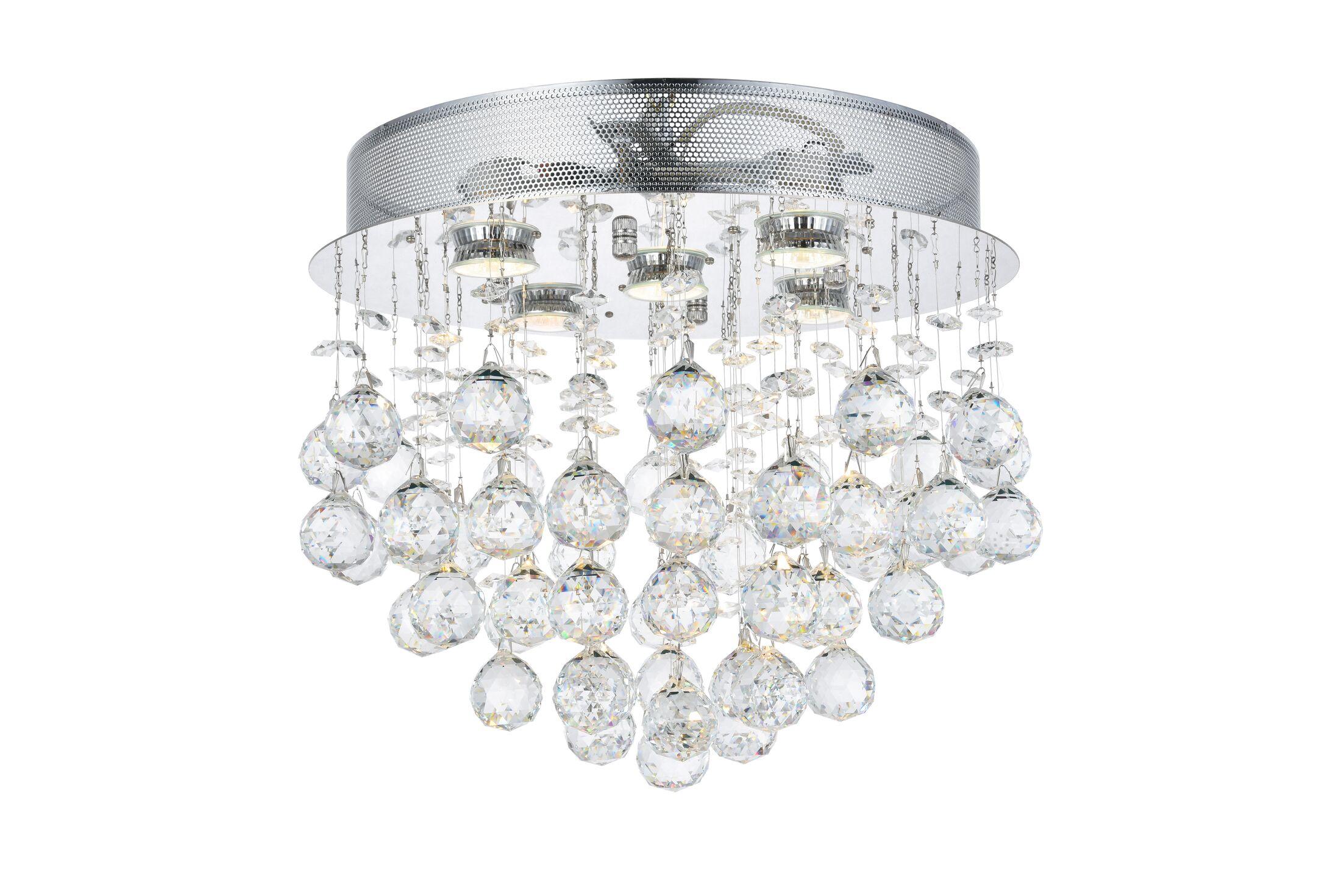 Colne 5-Light Flush Mount Crystal Grade: Swarovski Element