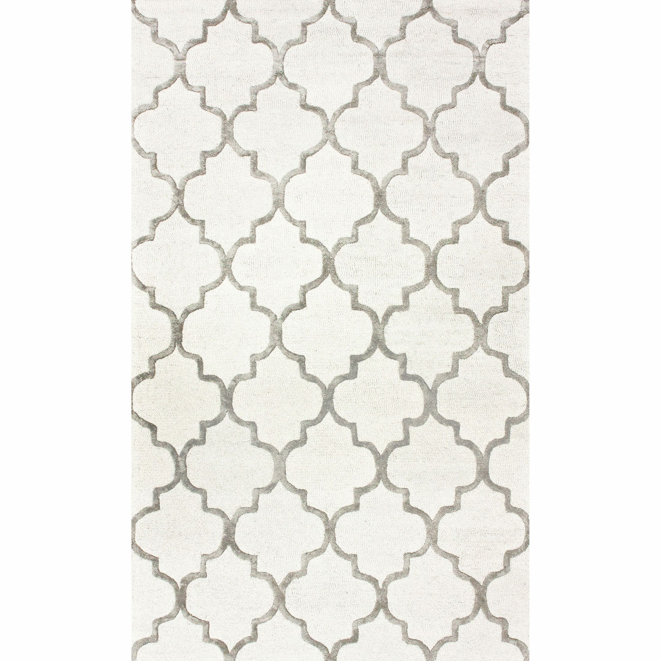 Noirmont Hand-Woven Ivory  Area Rug Rug Size: Rectangle 9' x 12'