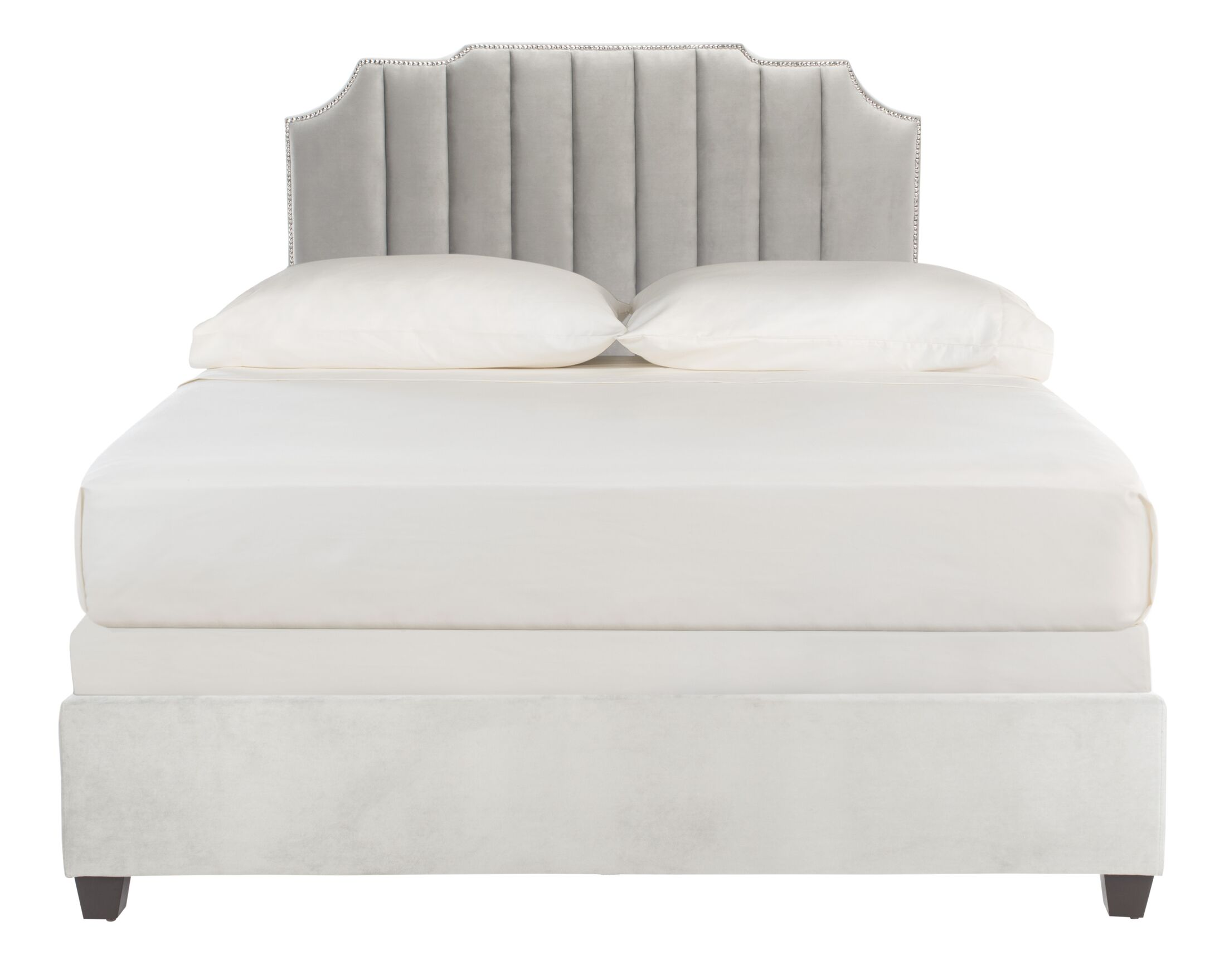 Musgrave Upholstered Panel Bed Color: Gray, Size: Full