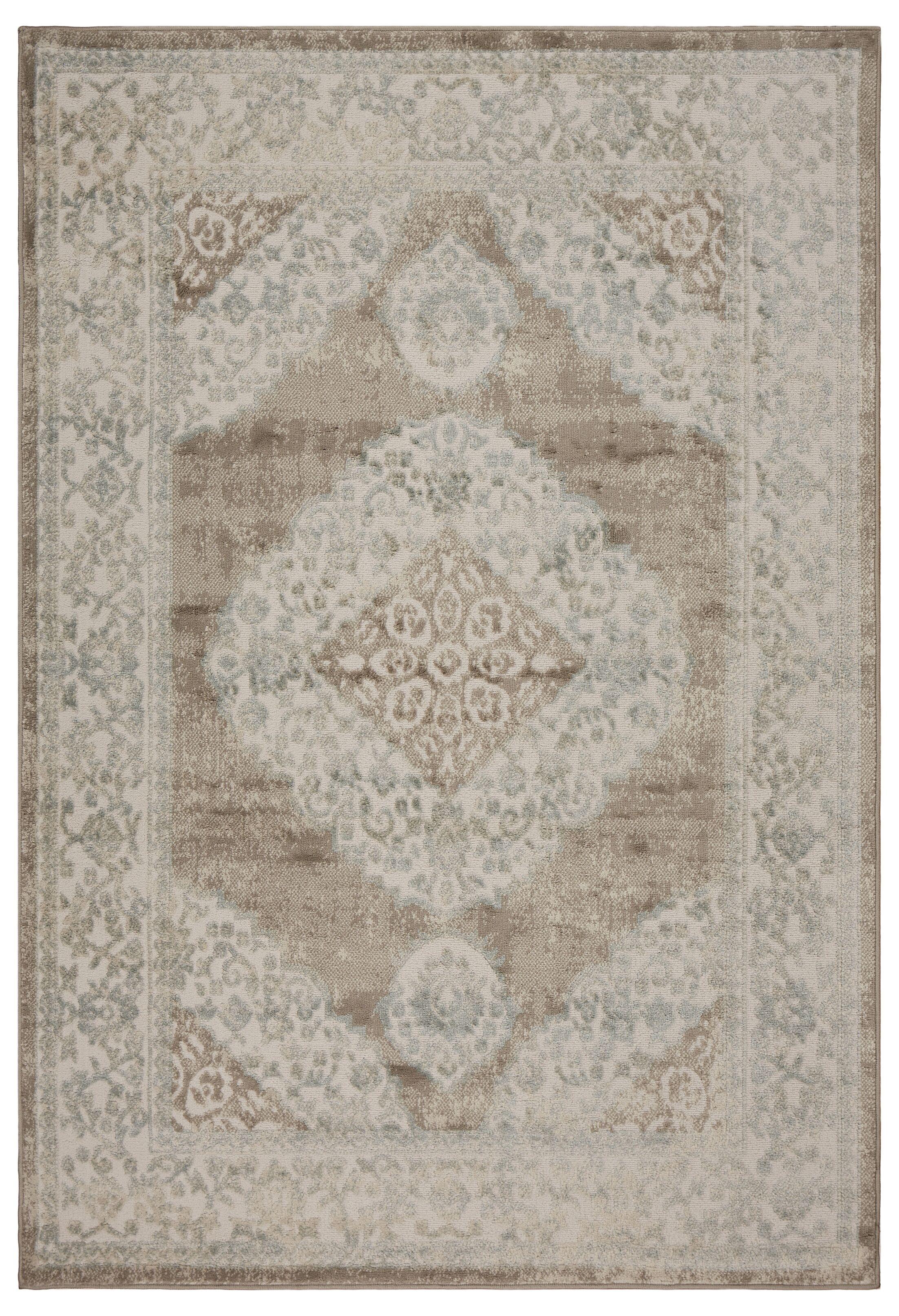 Archimbald Elegance Beige Area Rug Rug Size: Rectangle 5' x 7'