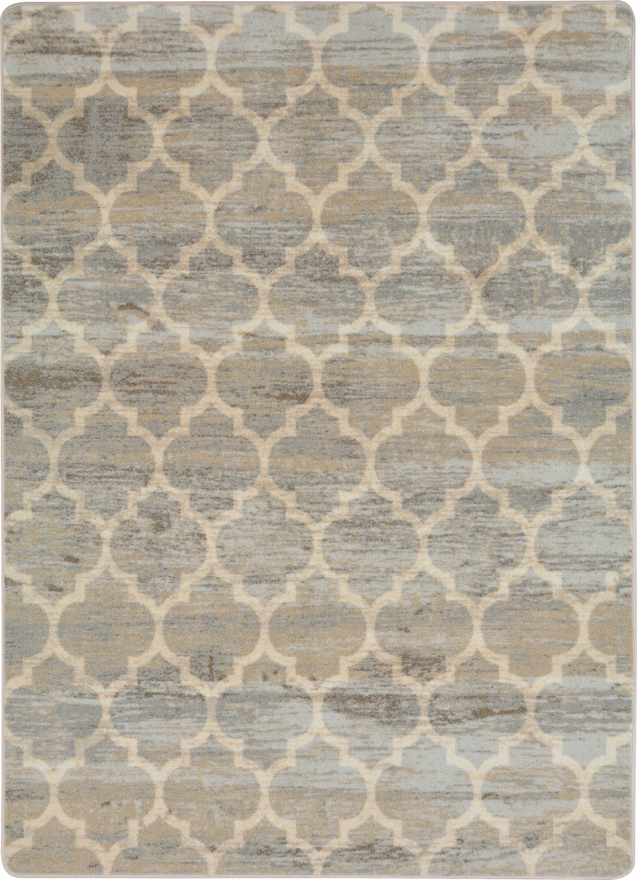 Roxie Synthetic Gray/Beige Area Rug Rug Size: Rectangle 5'4