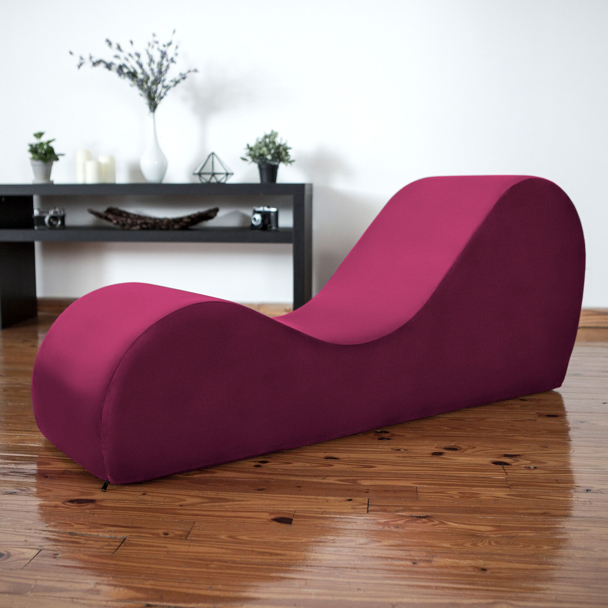 Symons Yoga Chaise Lounge Upholstery: Wine Red