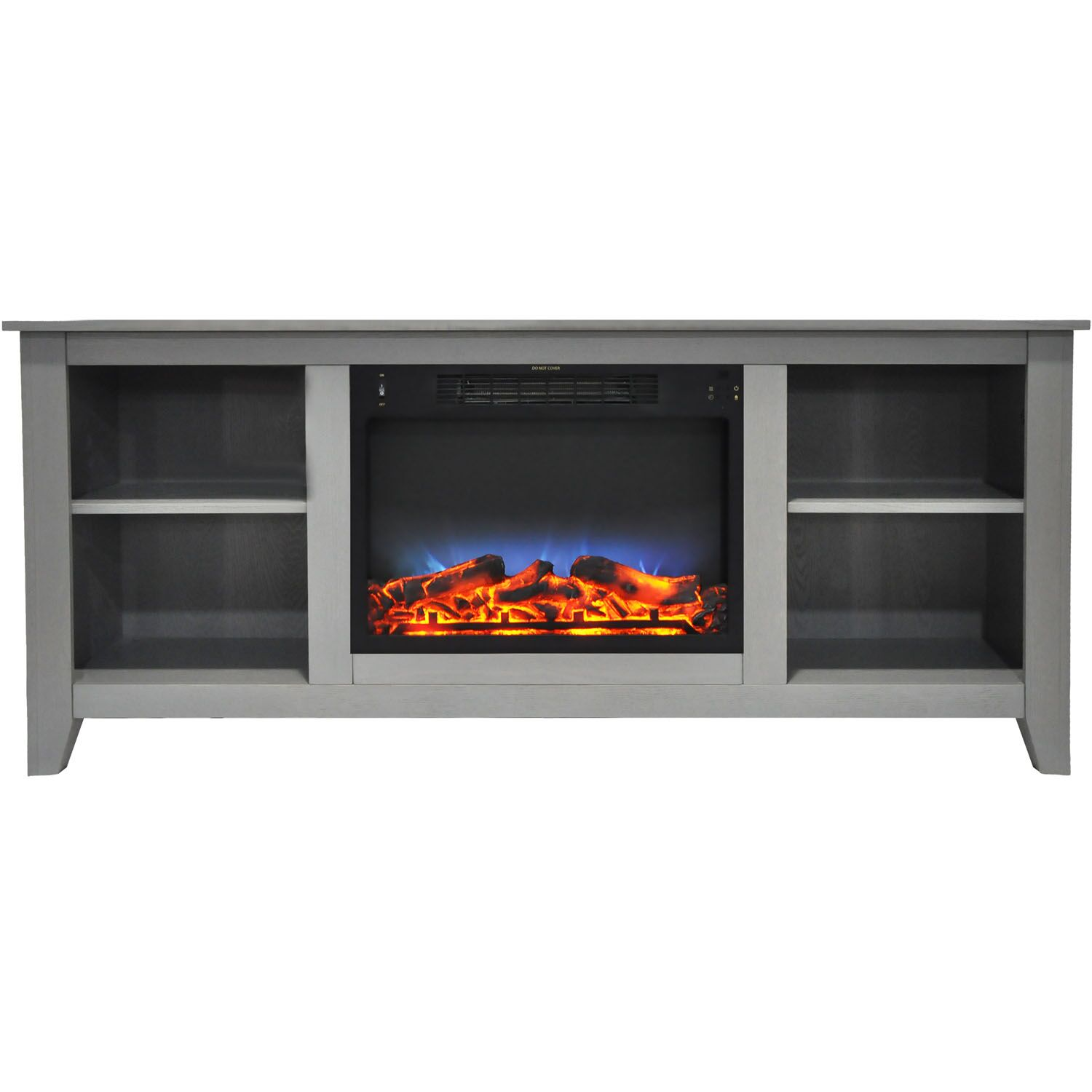Brook Hollow TV Stand with Electric Fireplace Finish: Gray