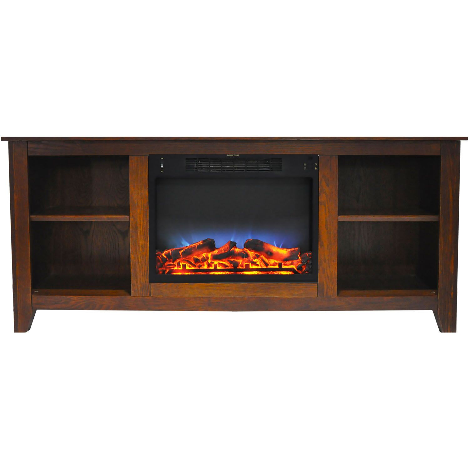 Brook Hollow TV Stand with Electric Fireplace Finish: Walnut