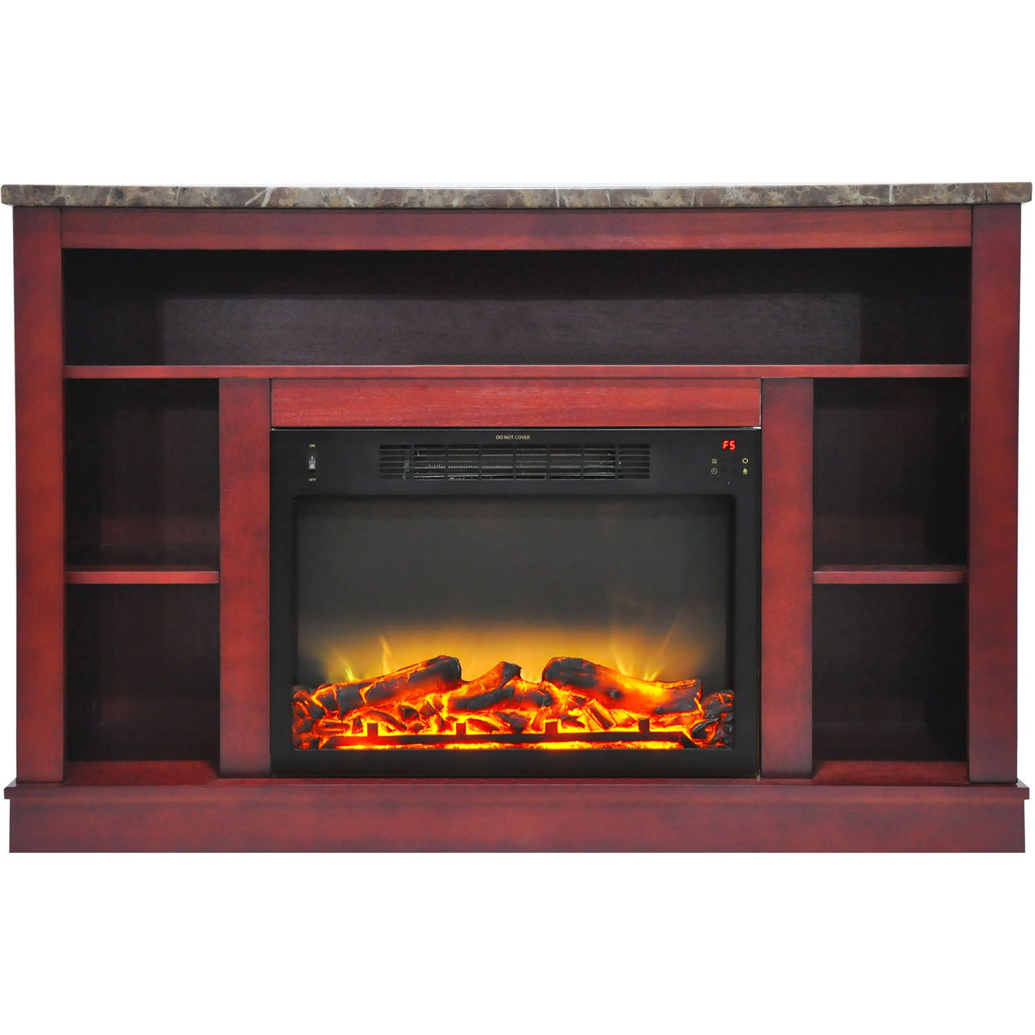 Eudora TV Stand with Electric Fireplace Finish: Cherry