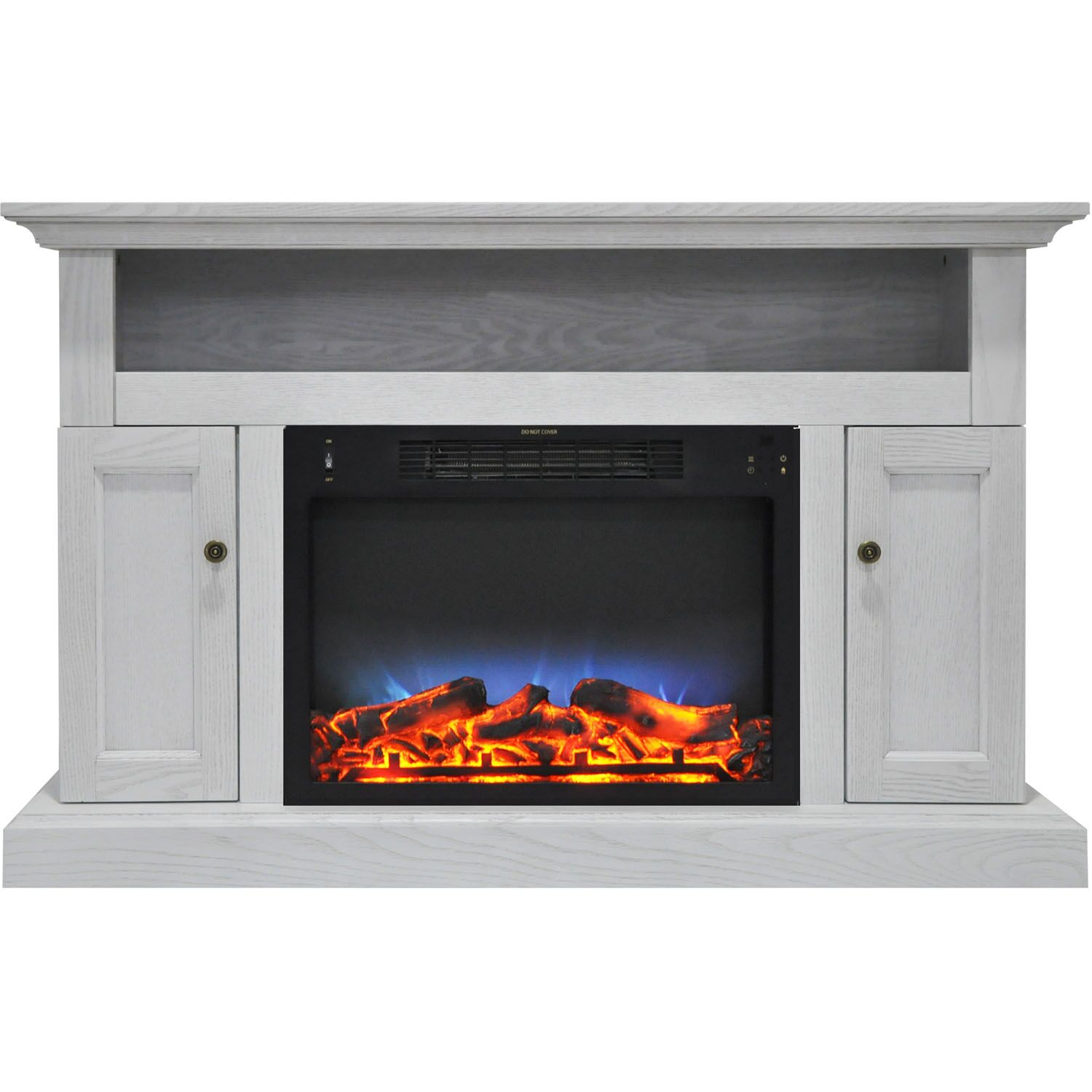 Broncho TV Stand with Electric Fireplace Finish: White