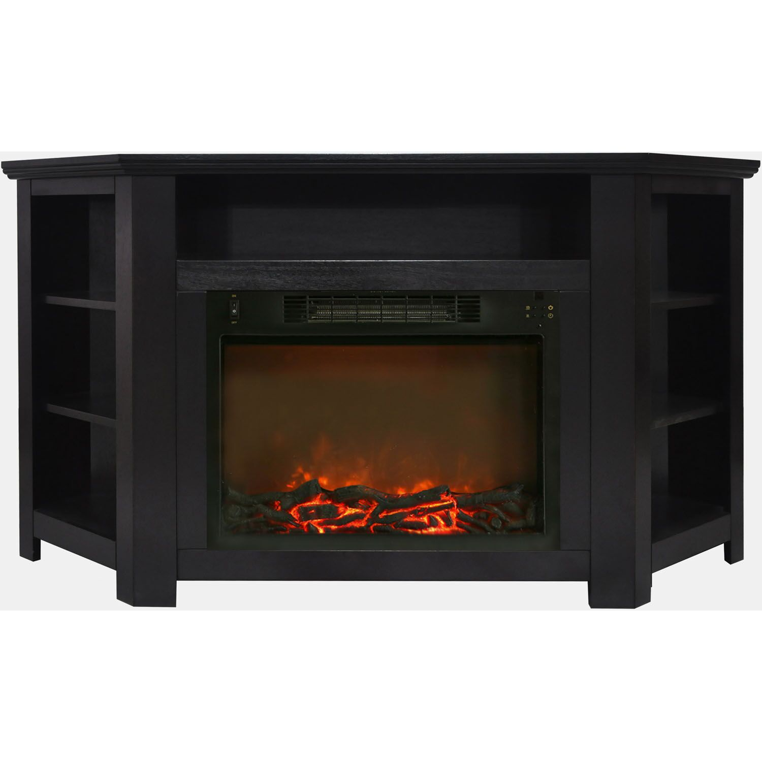 Cesar Modern TV Stand with Electric Fireplace Finish: Black Coffee