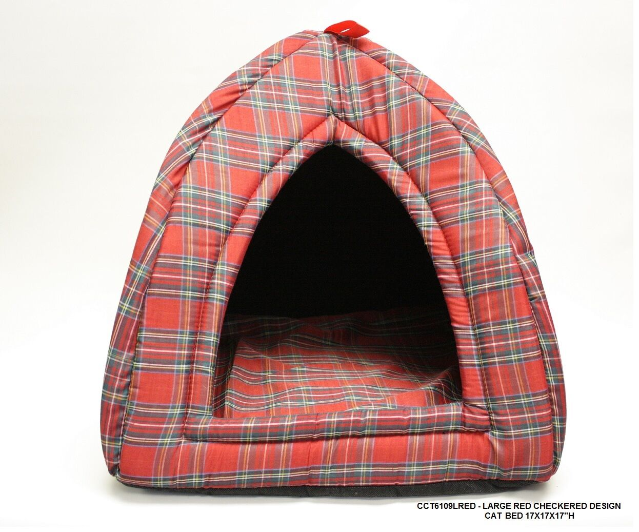 Checkered Cat Bed Size: Large - 17