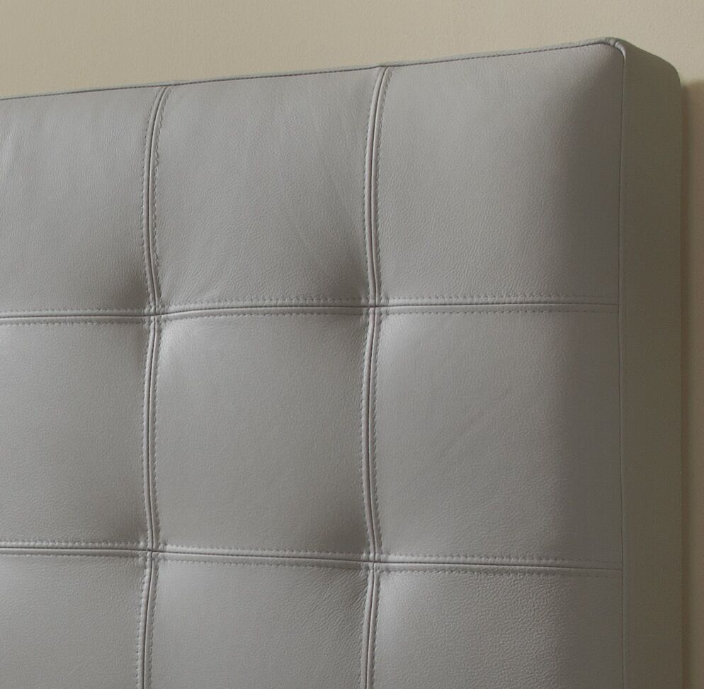 Estelle Upholstered Panel Headboard Upholstery: Slate, Size: Double