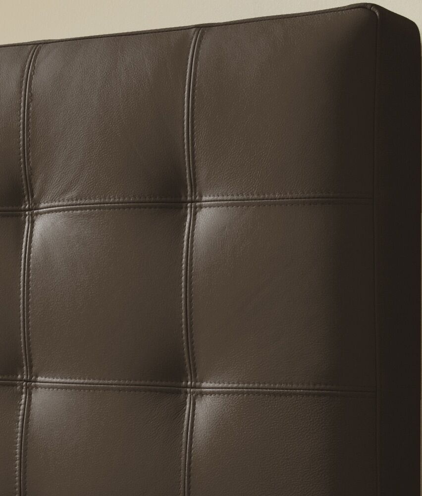 Estelle Upholstered Panel Headboard Size: Double, Upholstery: Brown