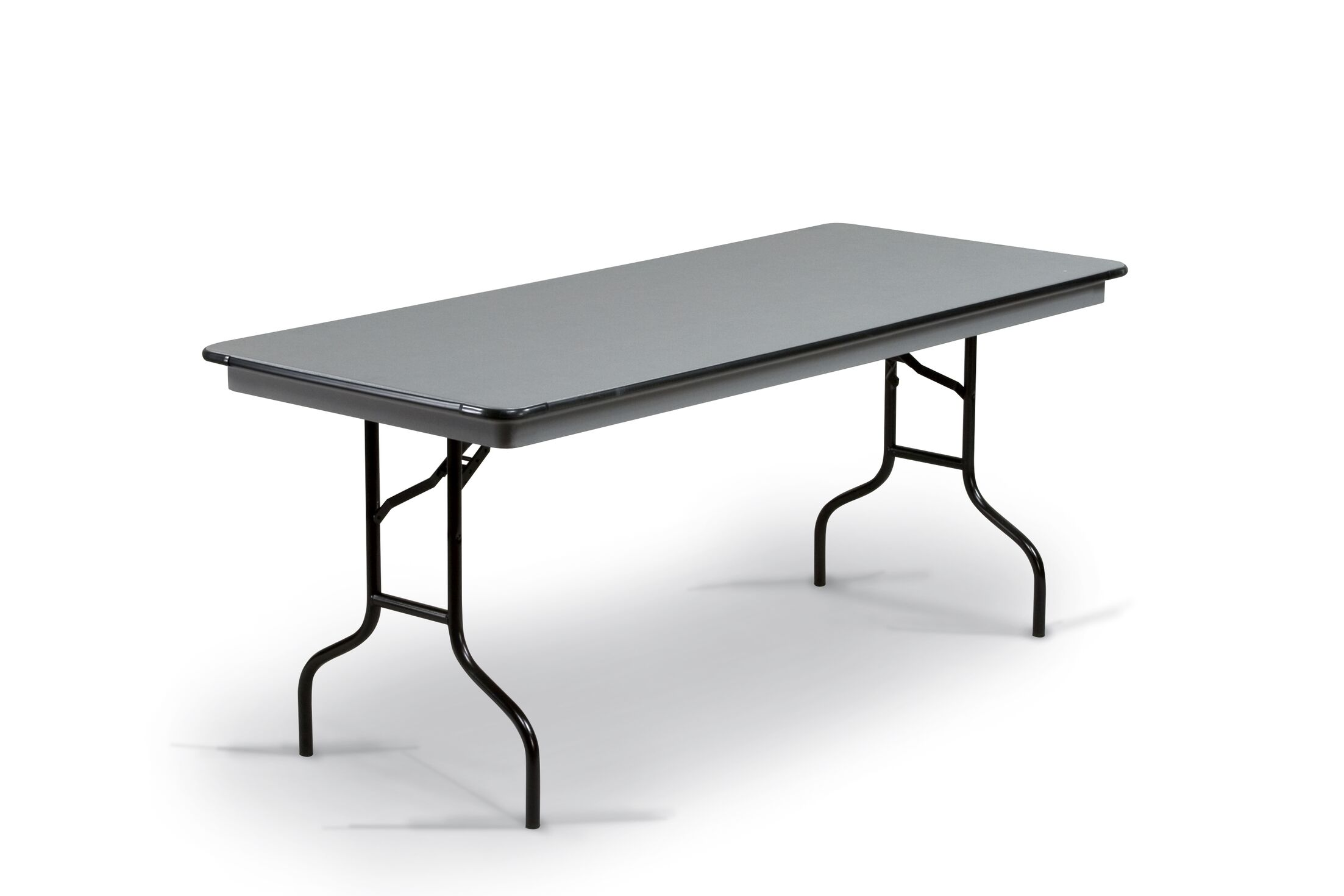 Hexalite Rectangular Conference Table Top Finish: Gray, Base Finish: Black, Size: 29