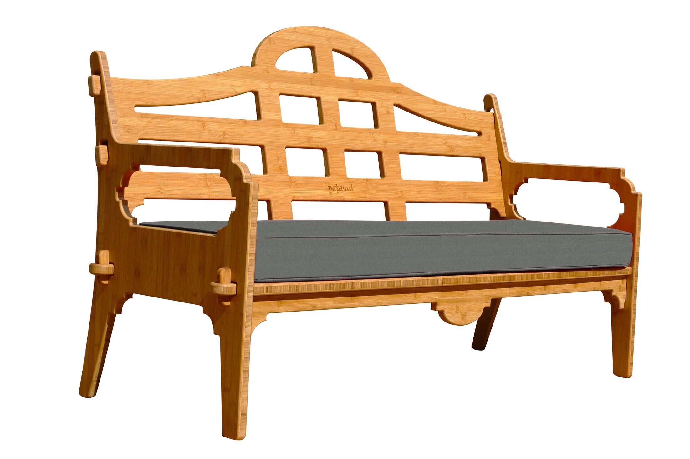 Burliegh Patio Sofa with Cushion Fabric: Charcoal