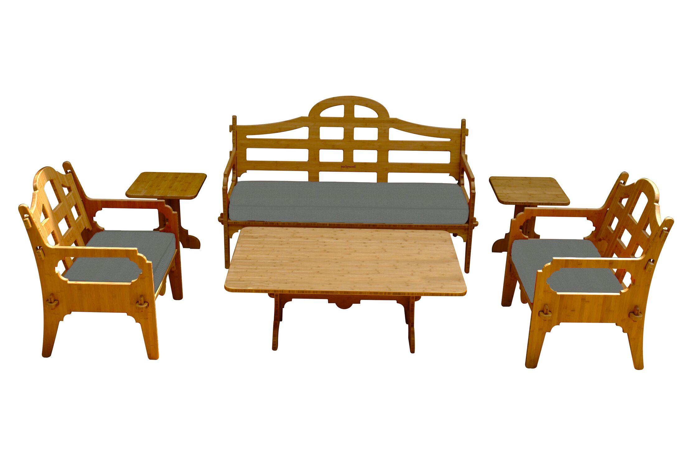 Burliegh 6 Piece Sunbrella Sofa Set with Cushions Fabric: Charcoal