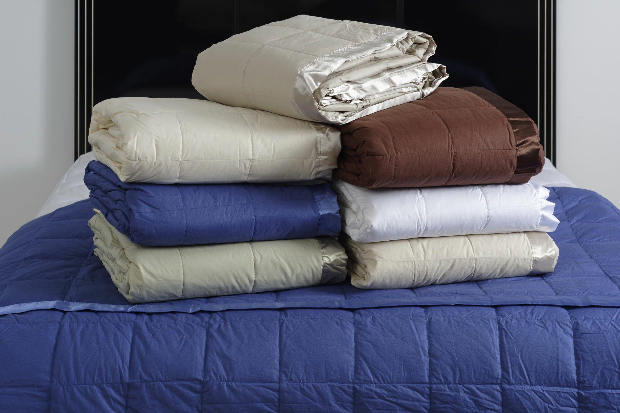 Denim Down Blanket Size: King