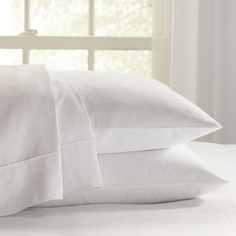 Eternal 120 GSM Luxury Sheet Set Color: White, Size: King