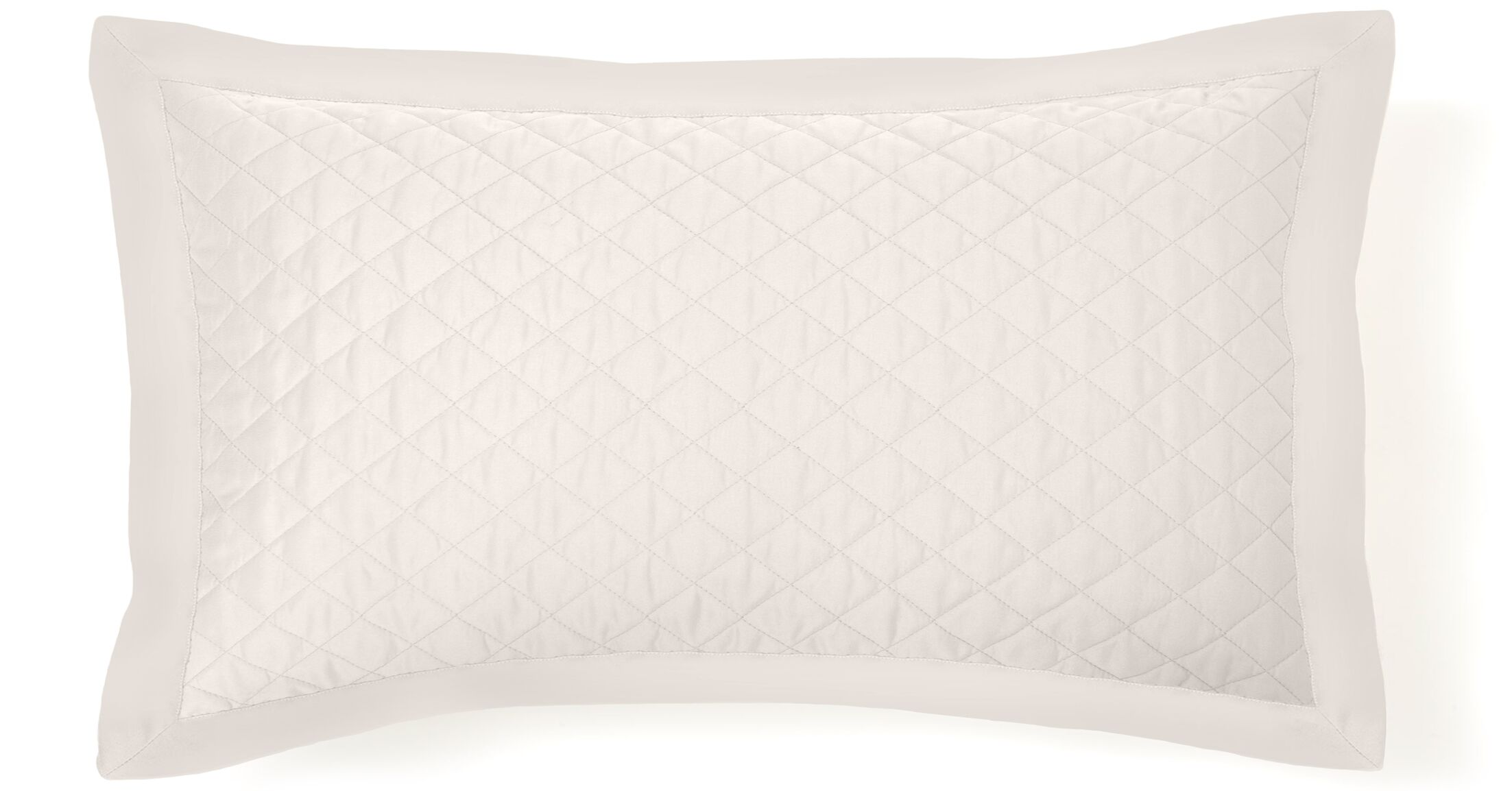 Eternal Diamond Quilted Sham Color: White, Size: Standard