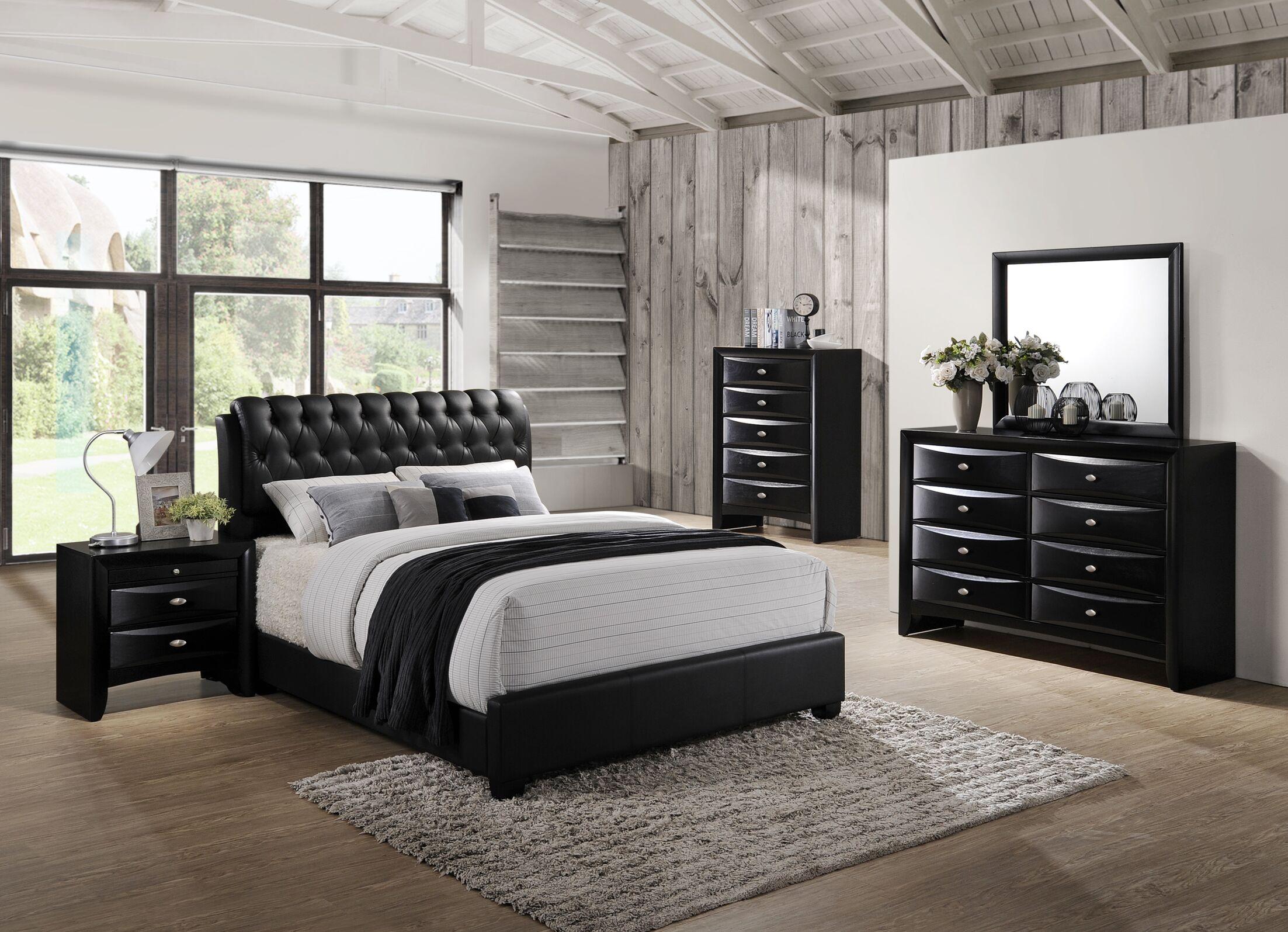 Blemerey 5 Piece Bedroom Set Size: Queen