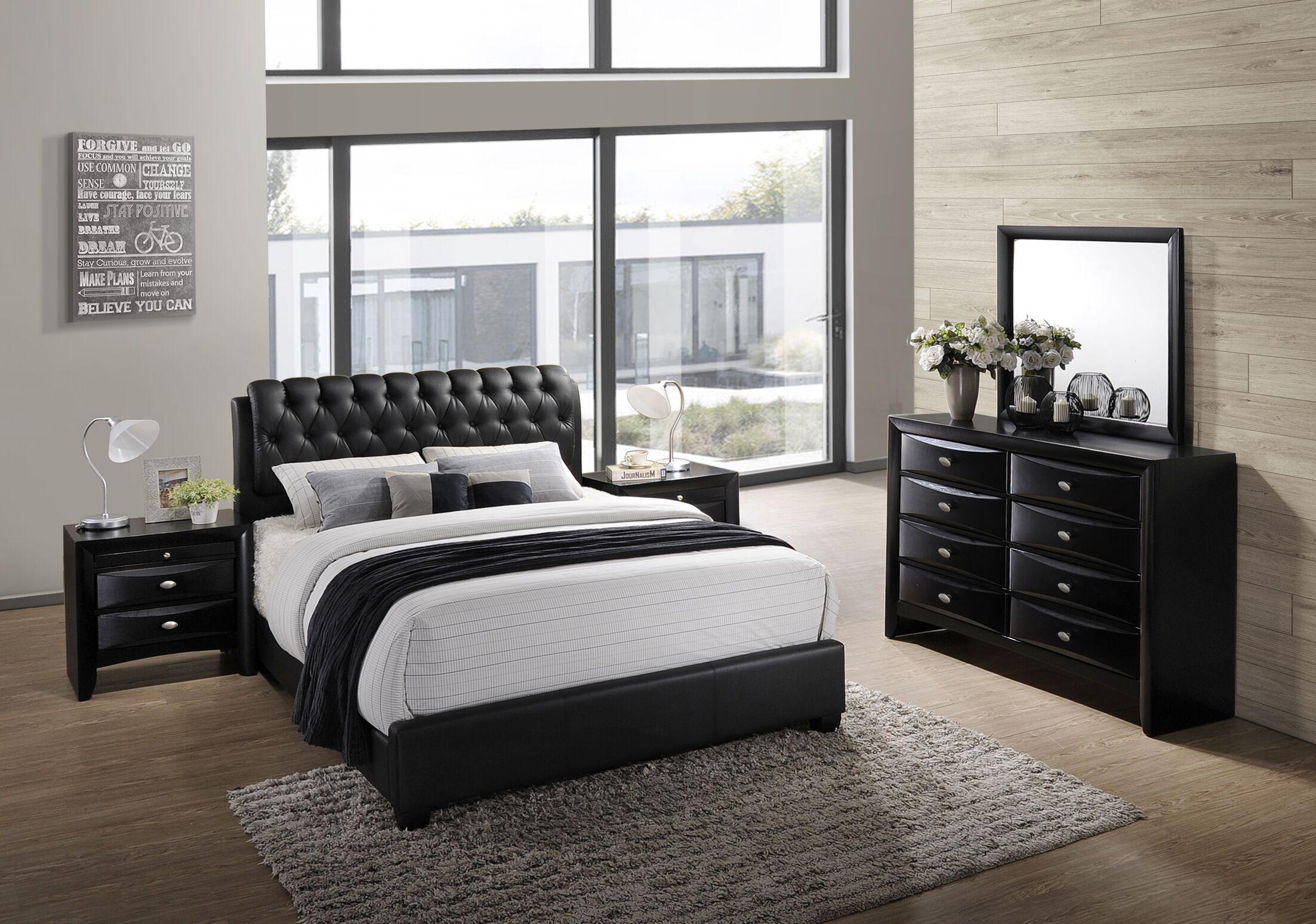 Blemerey 5 Piece Bedroom Set Size: King