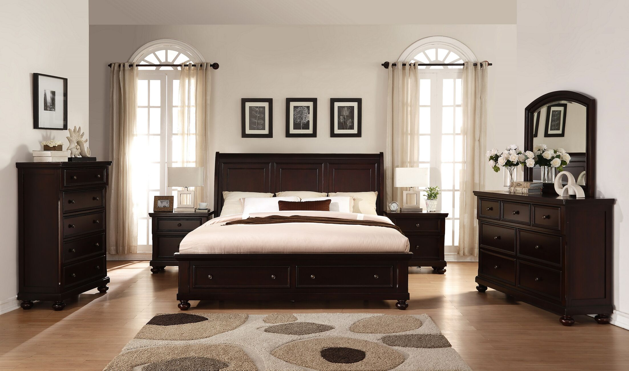 Brishland King Platform 6 Piece Bedroom Set