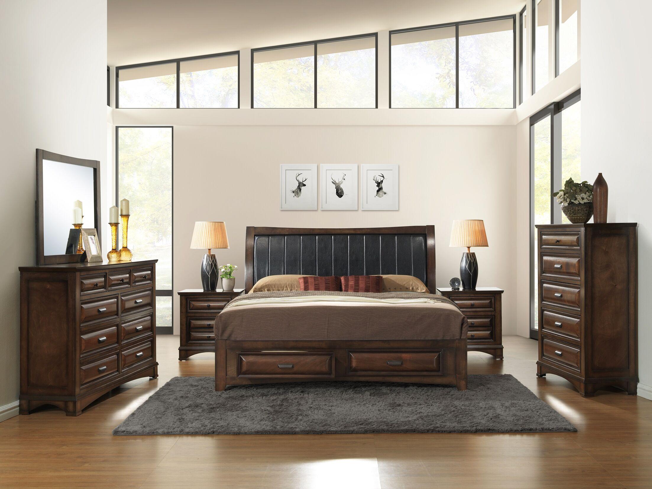 Broval King Platform 6 Piece Bedroom Set