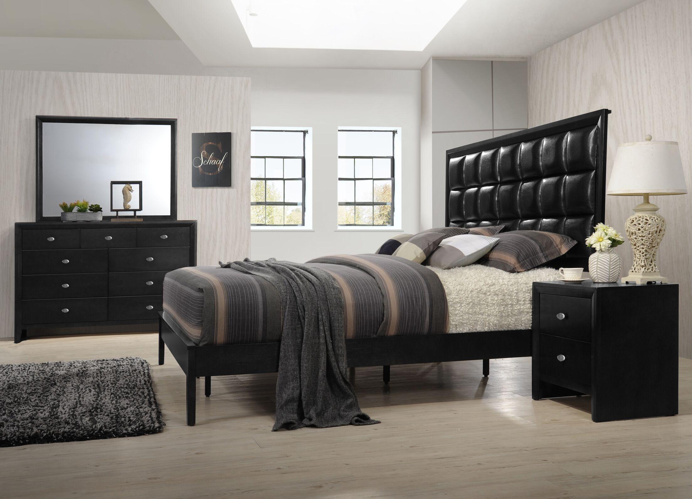 Gloria Platform 4 Piece Bedroom Set Size: Queen