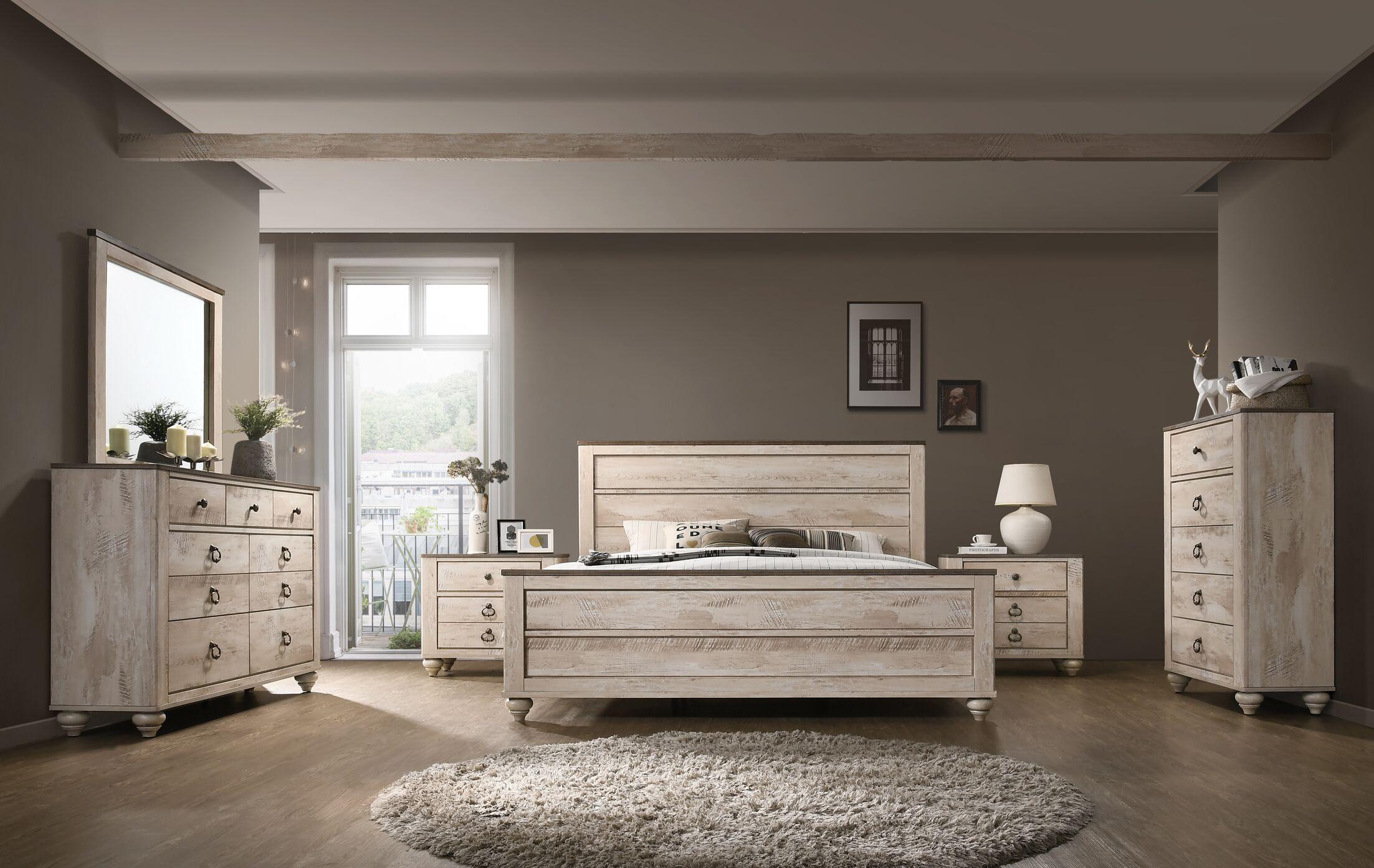 Manzano Panel 4 Piece Bedroom Set Size: Queen