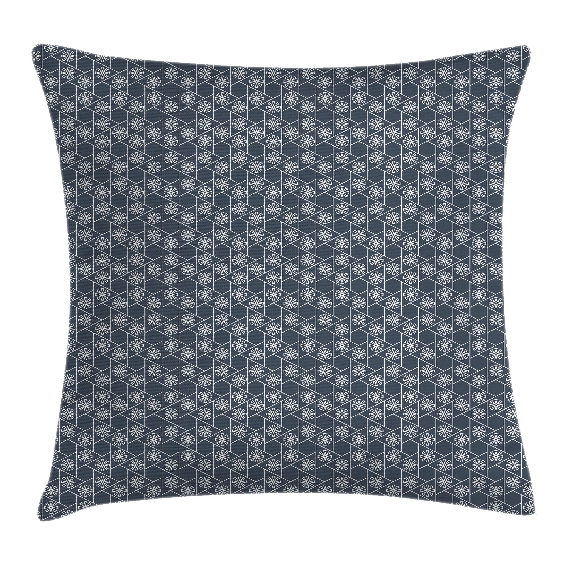 Japanese Tile Cushion Pillow Cover Size: 24