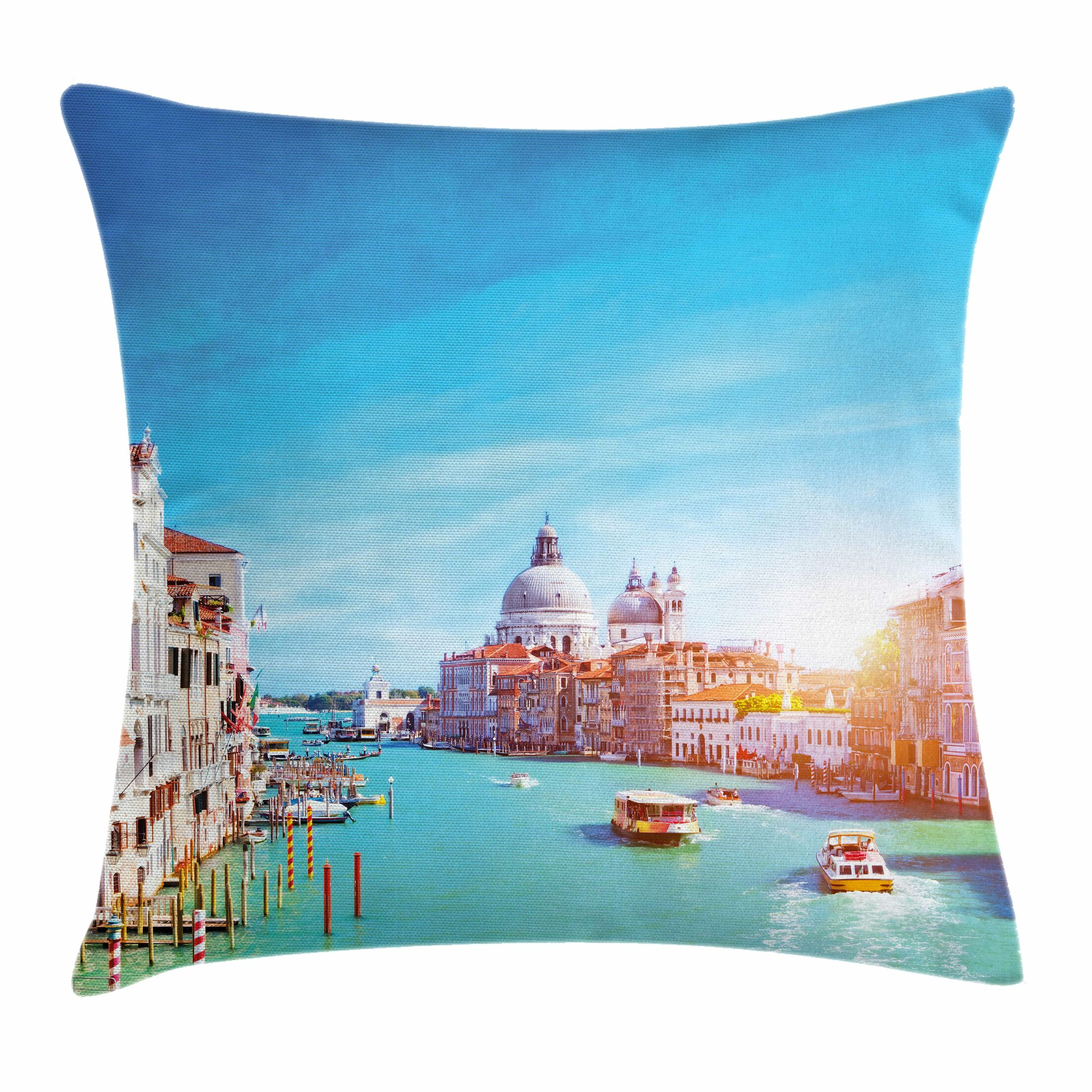 Grand Canal the Salute Square Pillow Cover Size: 20