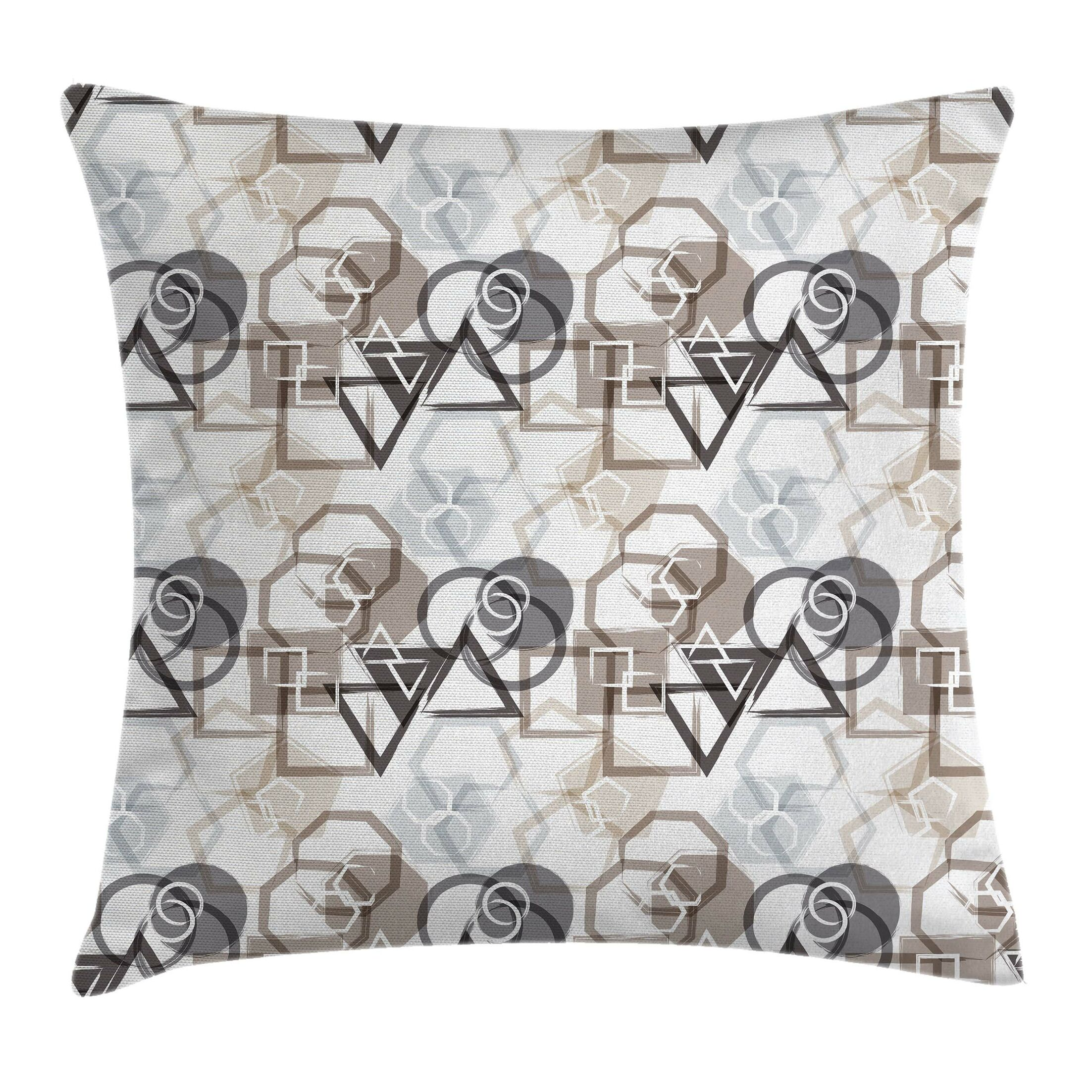 Geometric Modern Art Square Pillow Cover Size: 20