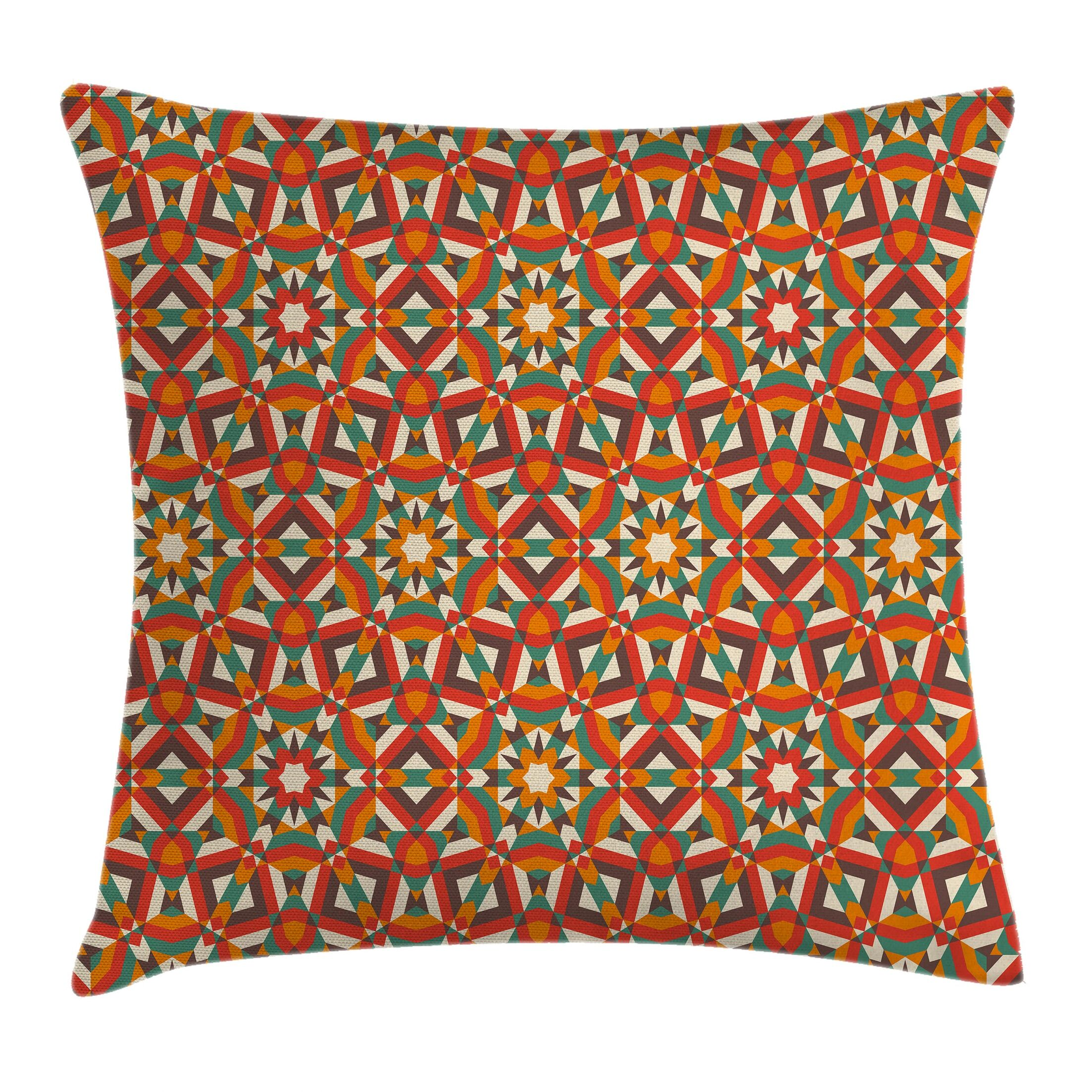 Modern Geometric Graphic Print Pillow Cover with Zipper Size: 24
