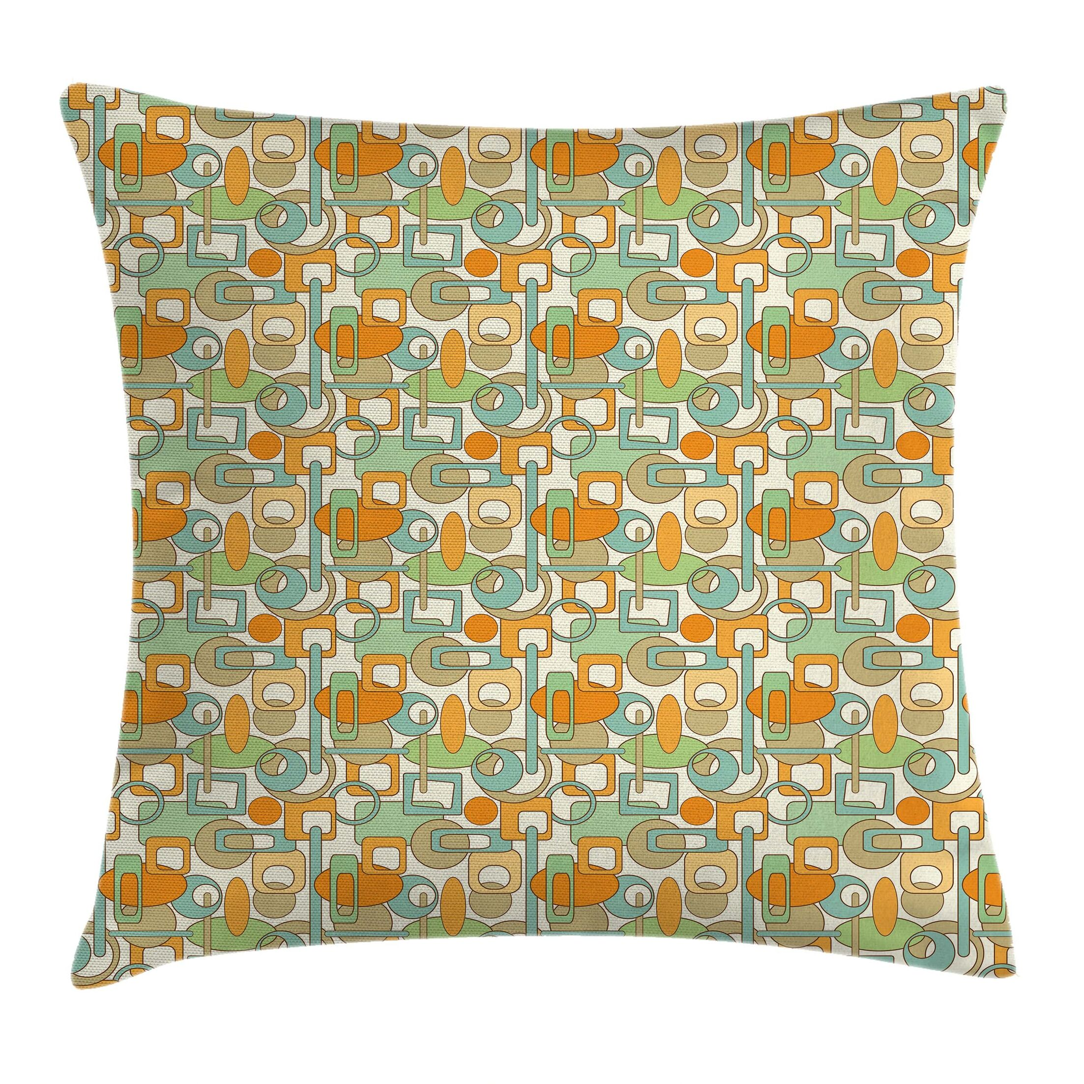 Abstract Shapes Mix Square Pillow Cover Size: 16