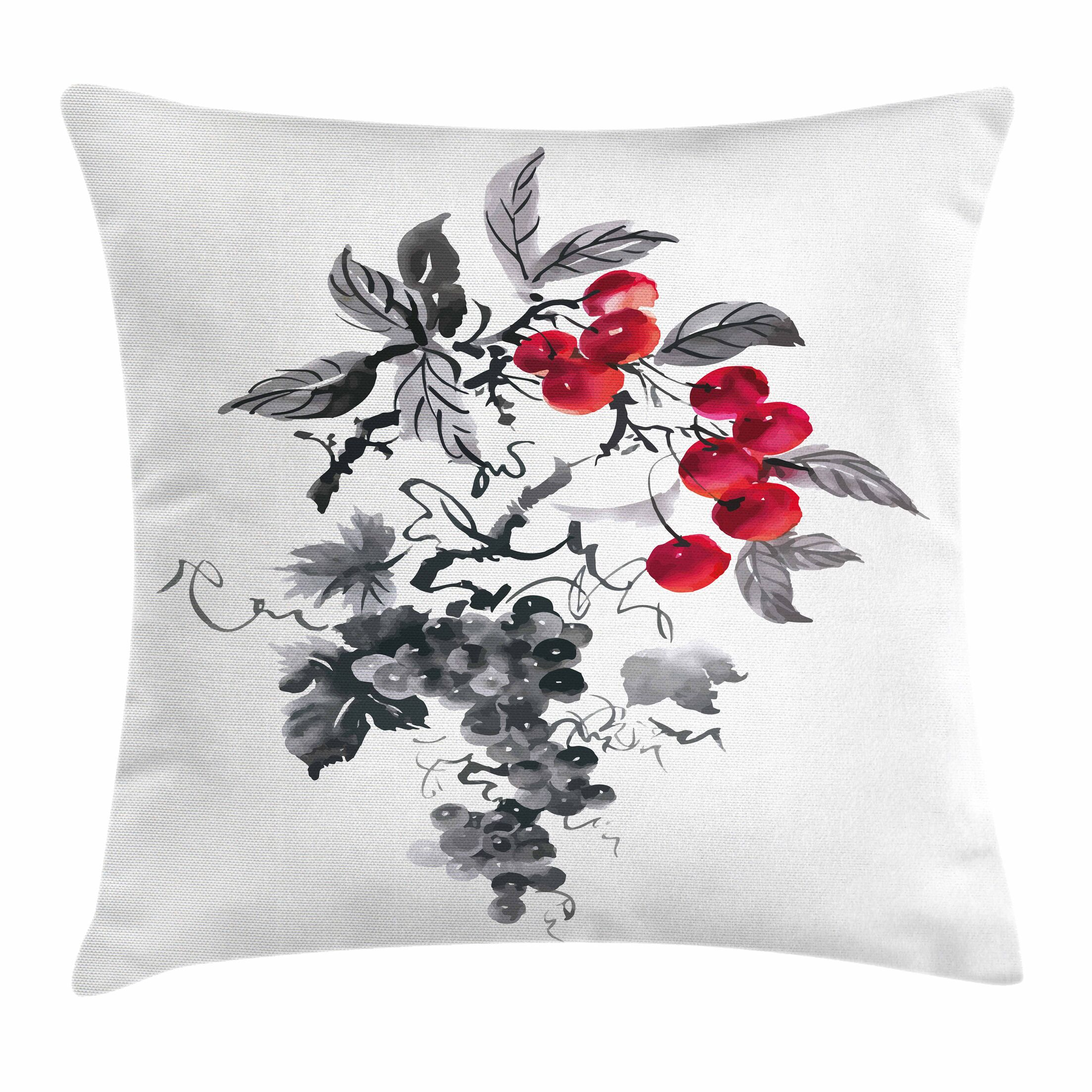 Rural Natural Foliage Square Pillow Cover Size: 20