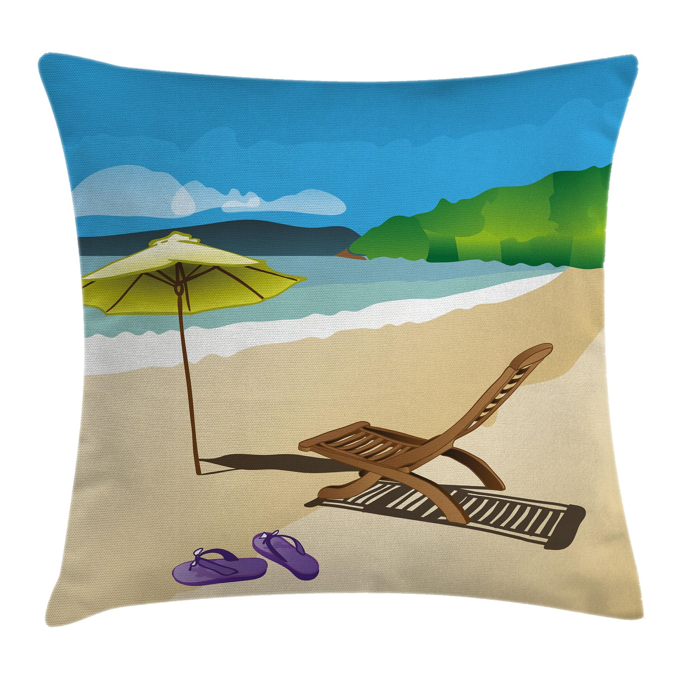 Sunshine Sand Waves Cushion Pillow Cover Size: 16