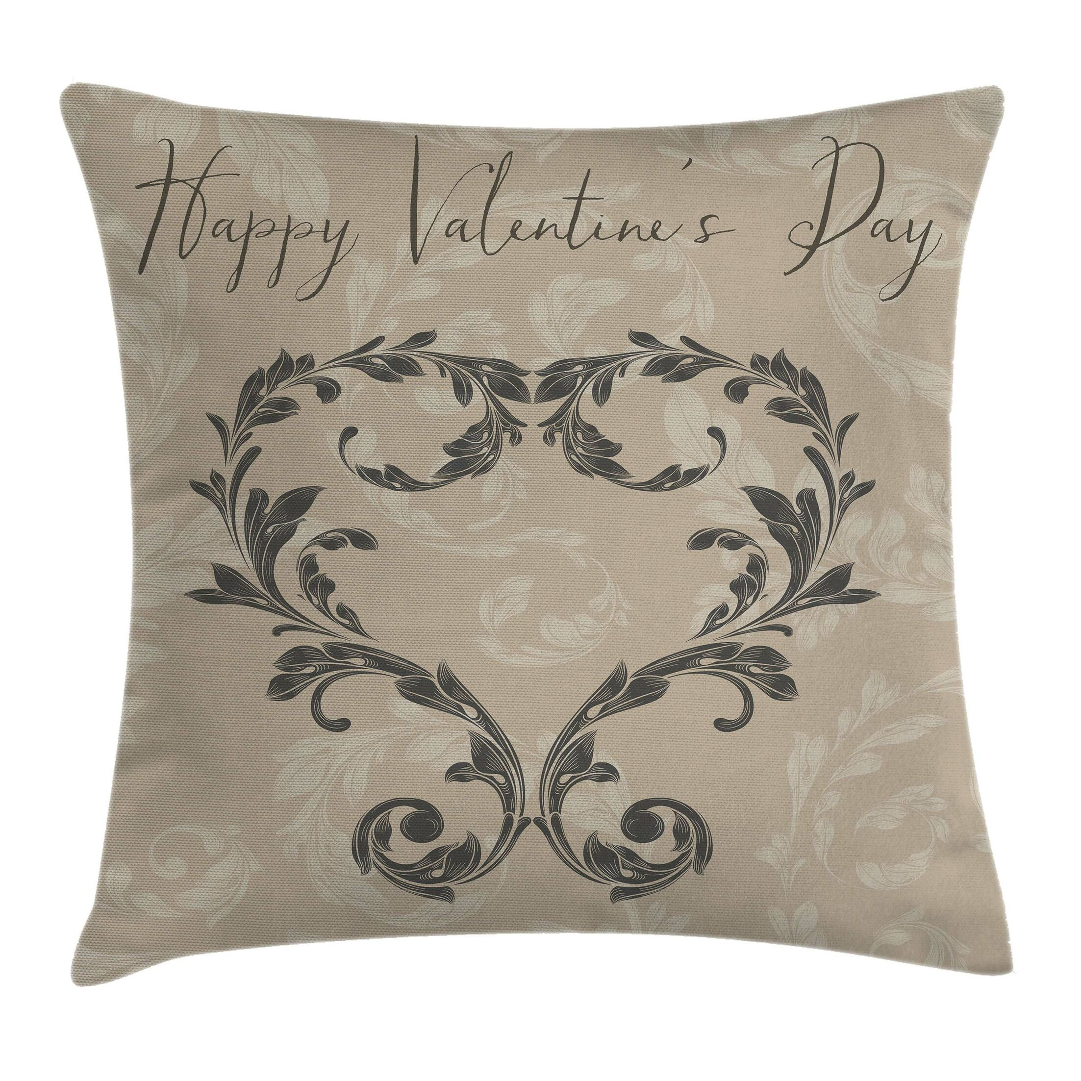 Valentine's Day Square Pillow Cover Size: 24