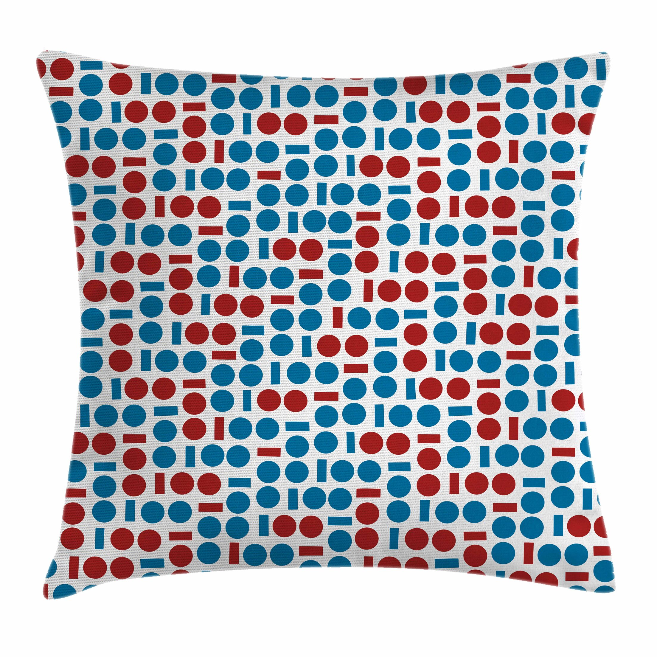 Geometric Modern Forms Square Pillow Cover Size: 18