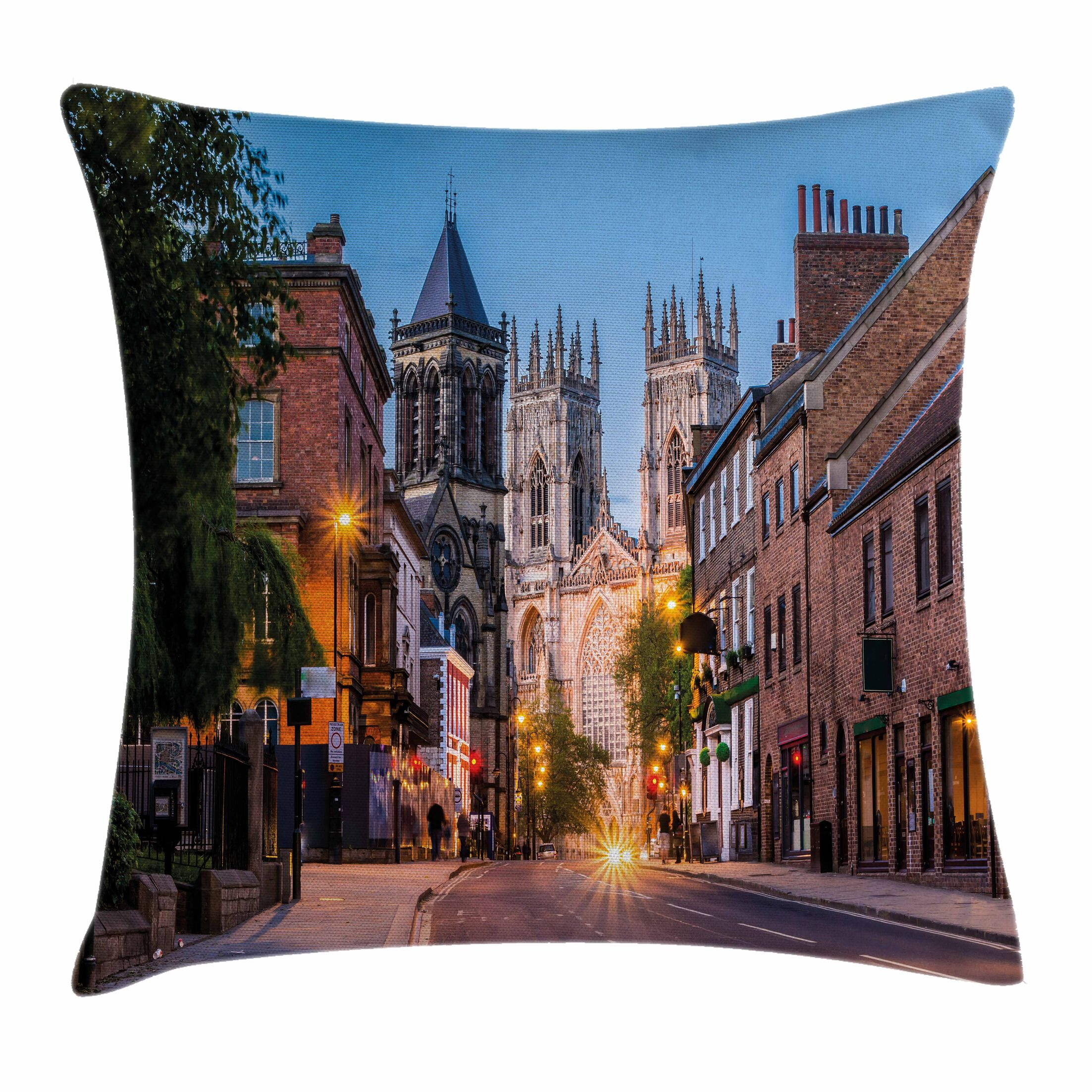 Gothic Decor York Minster View Square Pillow Cover Size: 20